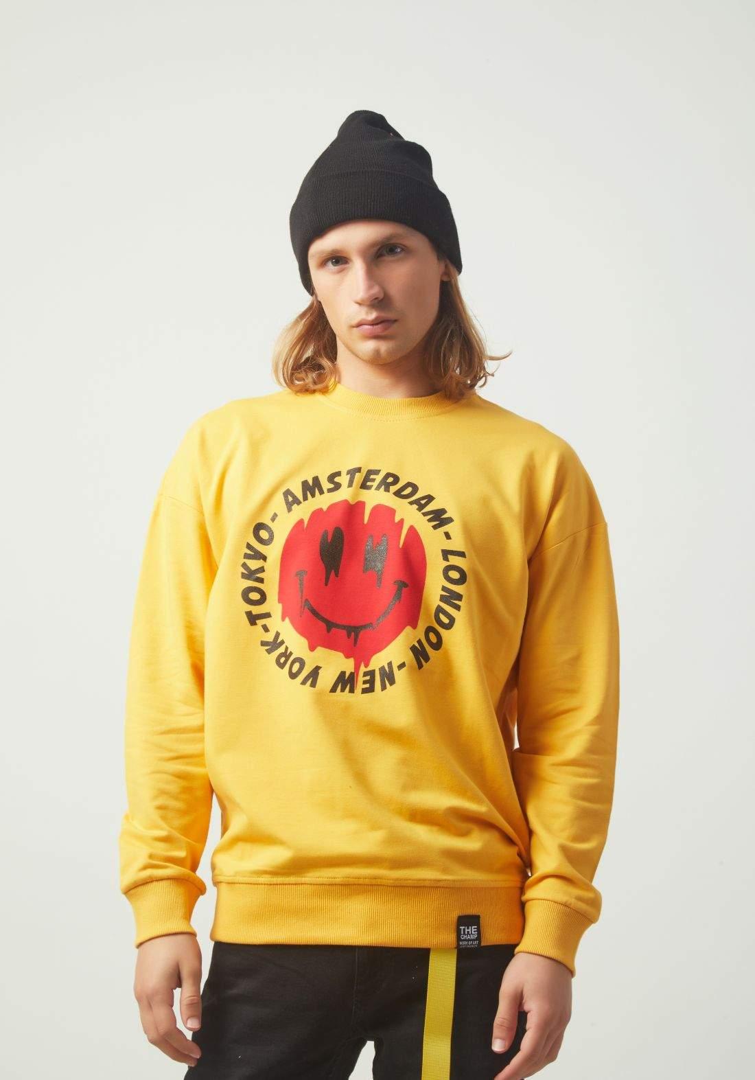 بلوز رجالي اصفر اللون