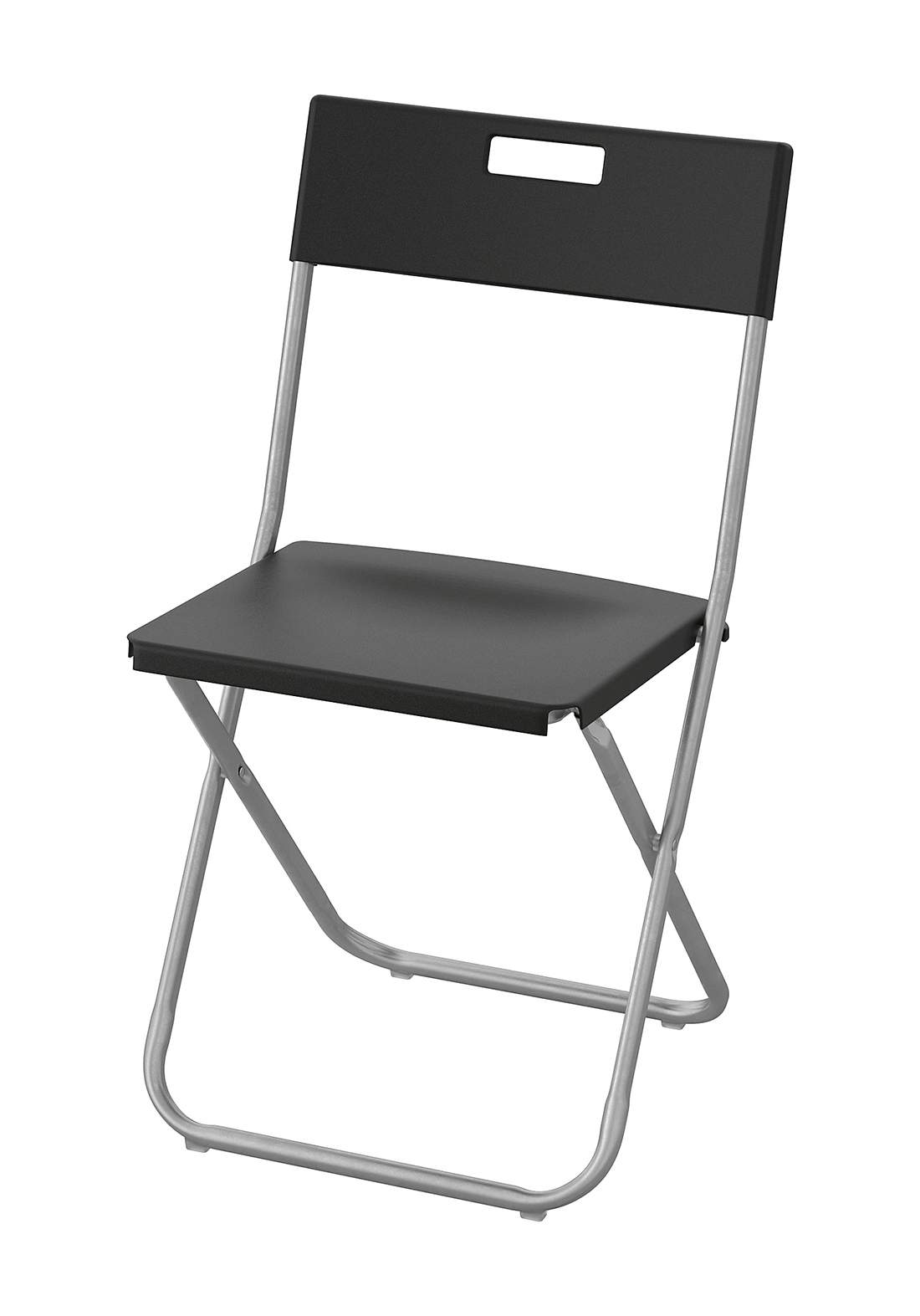 كرسي قابل للطي - اسود اللون من ايكيا