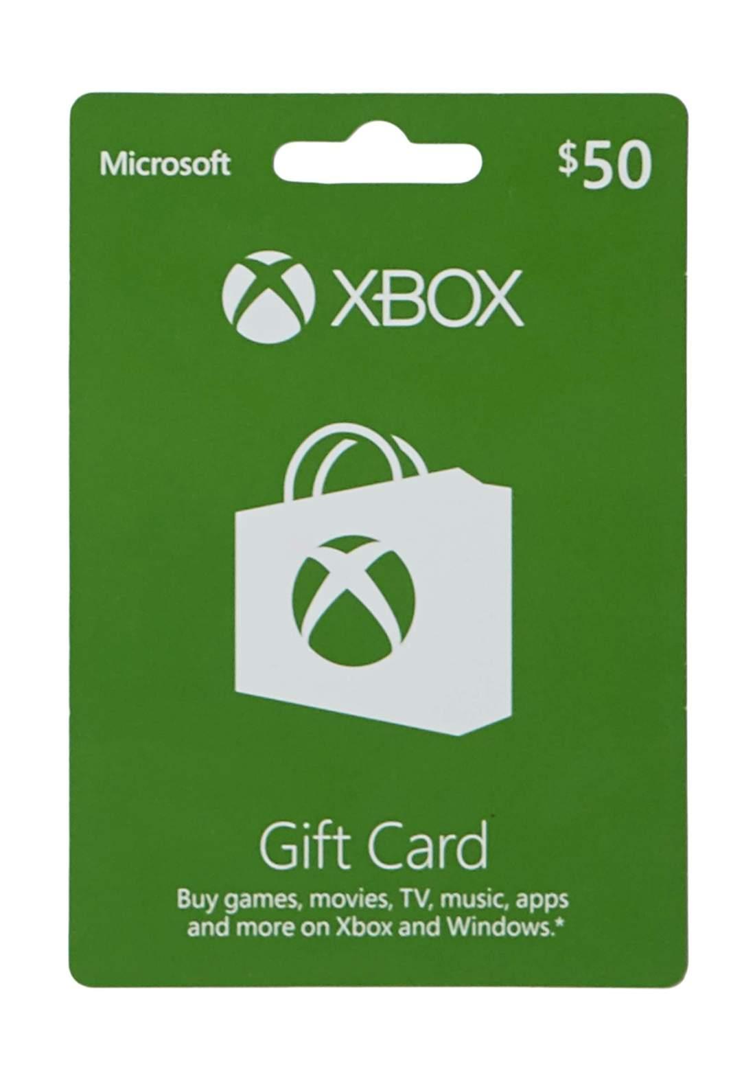 $50 Xbox Gift Card -Digital Code