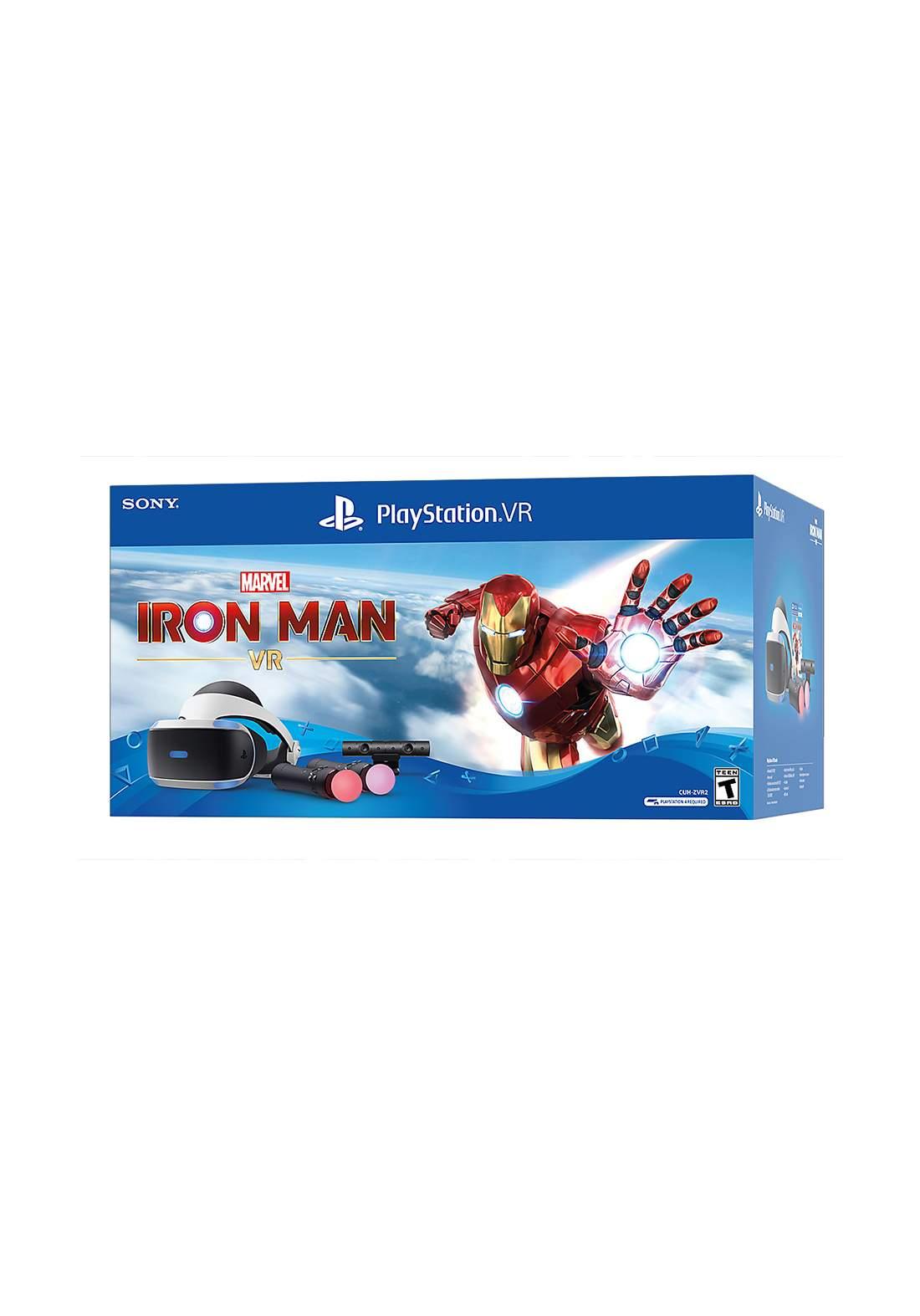 Playstation VR  Bundle Marvel Iron Man نظارة واقع افتراضي + سماعة +كاميرا