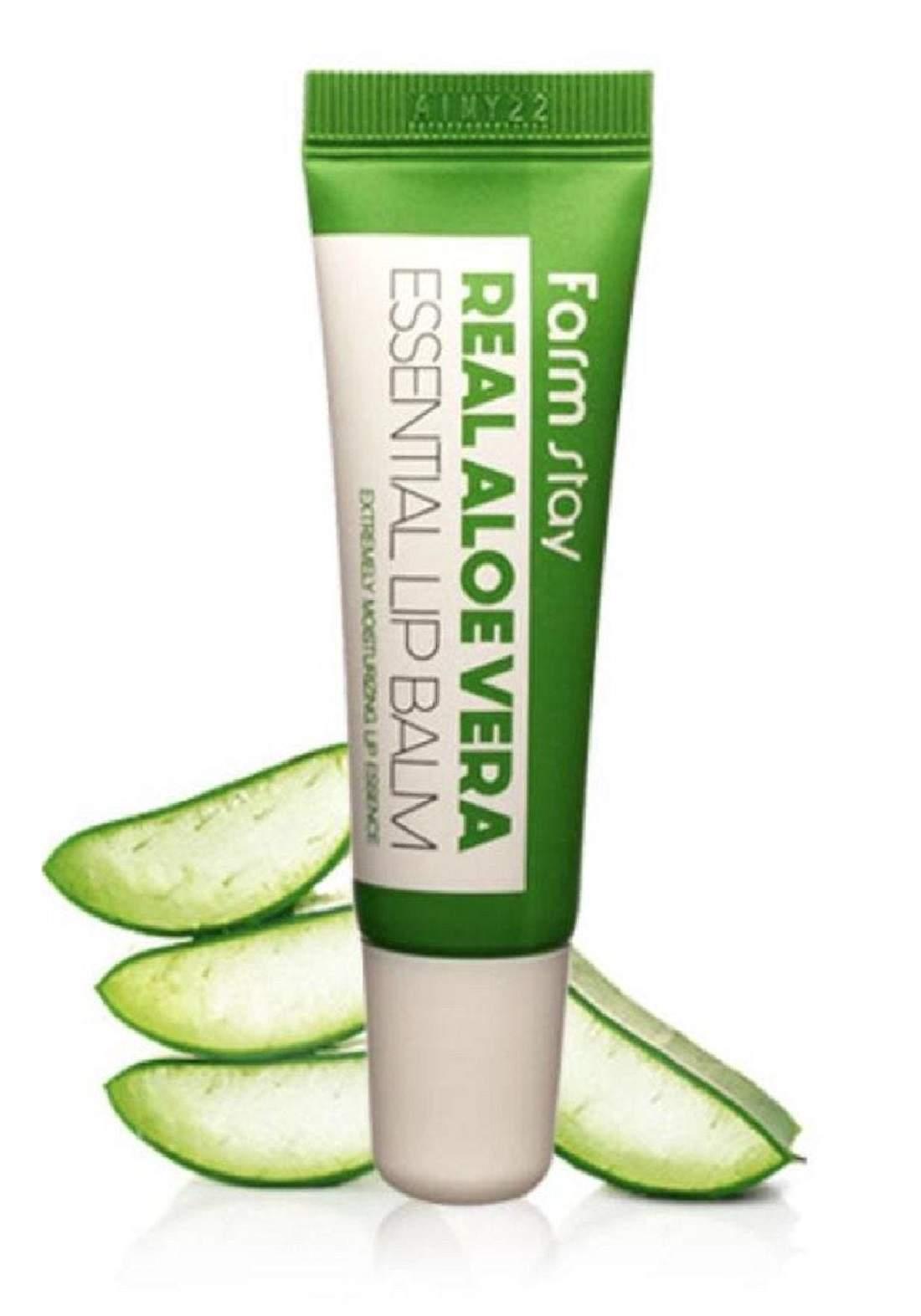 Farm Stay Real Aloe Vera Essential Lip Balm مرطب شفاه