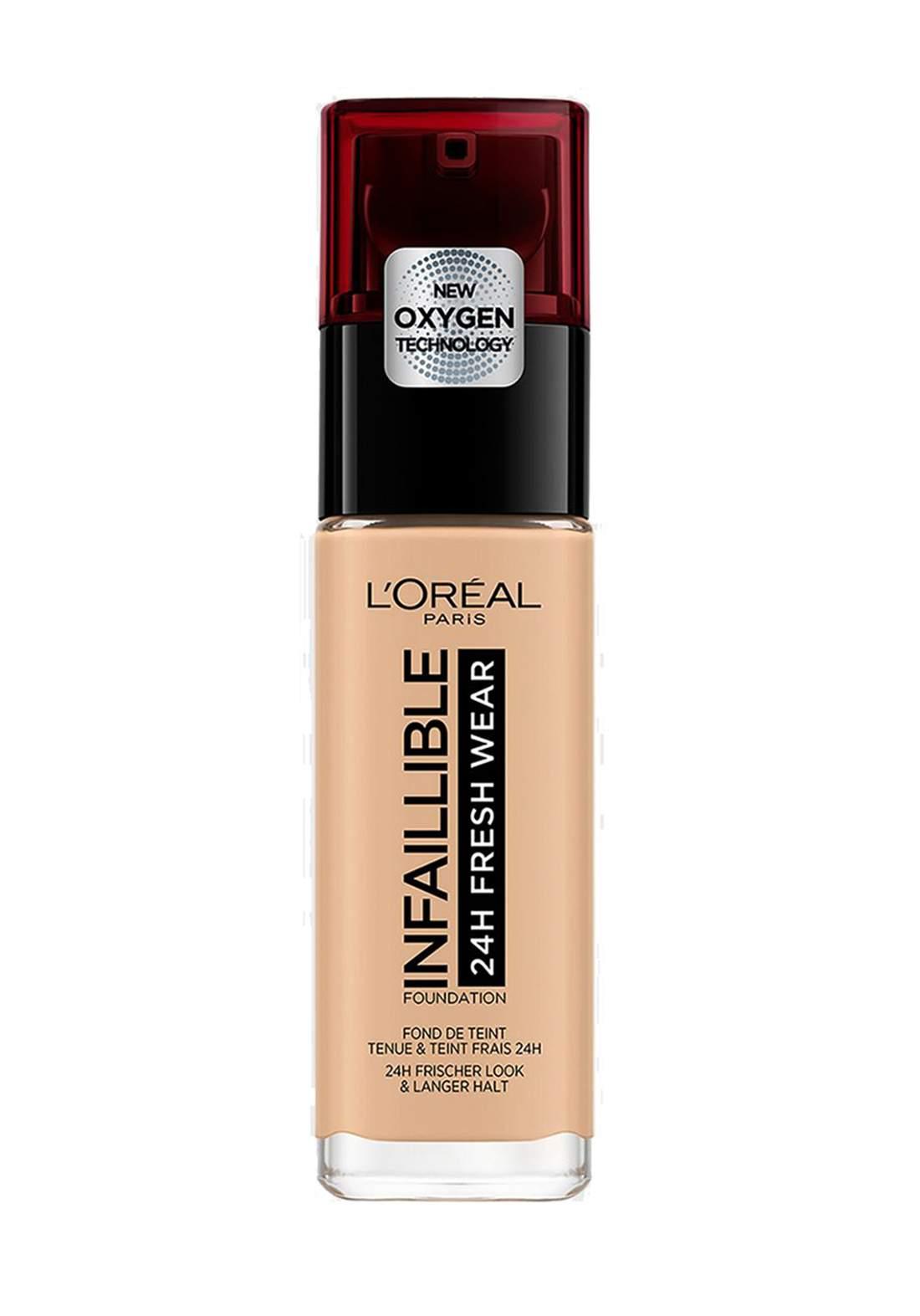 L'Oréal Paris Infaillible 24H Fresh Wear Foundation 120 Vanille (027-1074)  كريم اساس