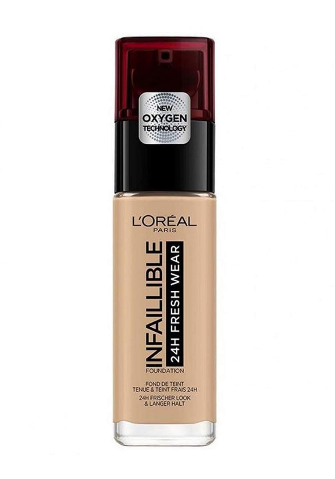 L'Oréal Paris Infaillible 24H Fresh Wear Foundation 200 Sable Dore/Go (027-1077)  كريم اساس