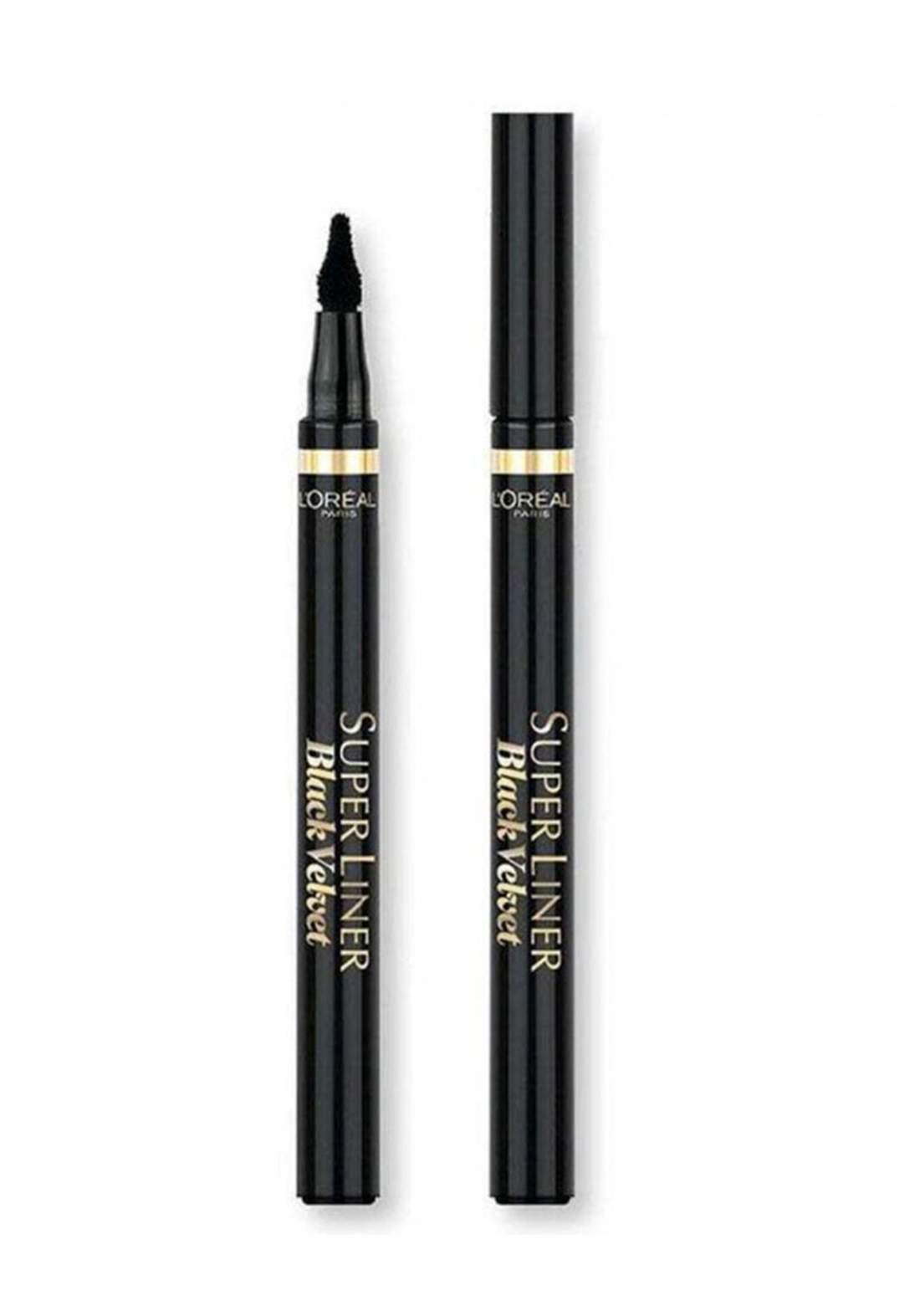 L'Oreal Super Liner Eyeliner Black Velvet , Extra Black (027-0498) قلم محدد للعيون