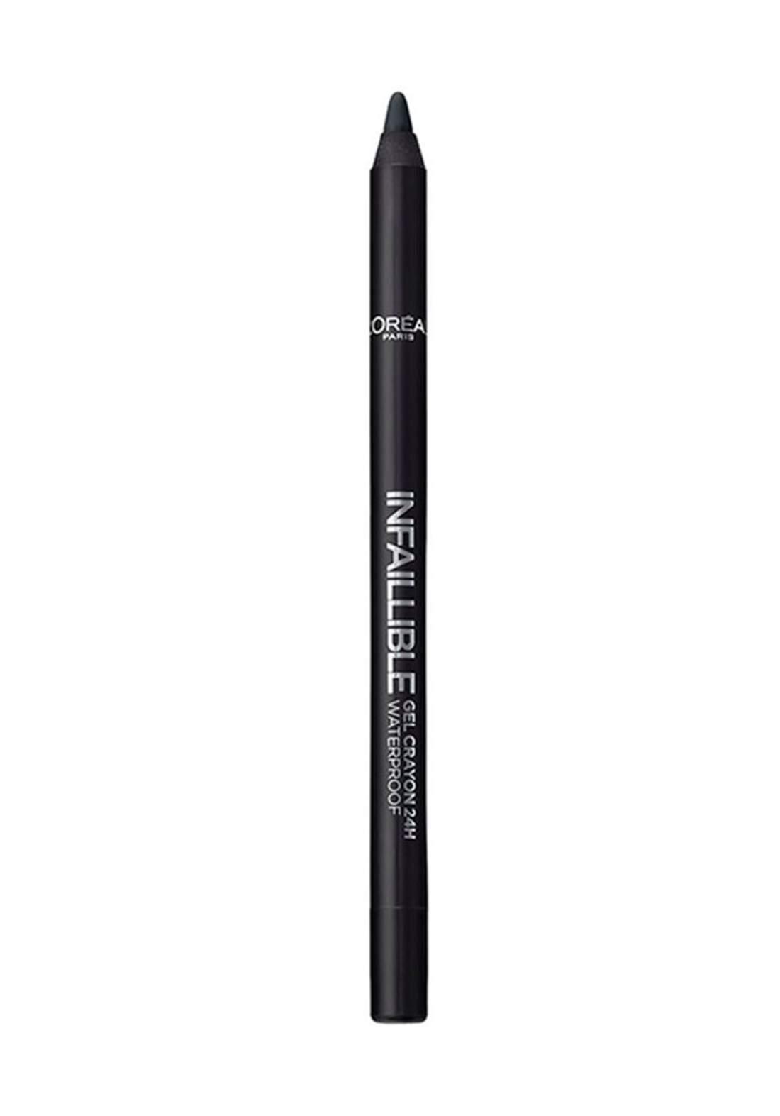 L'Oreal Paris Infallible Gel Crayon Eyeliner 01 Back  (027-0833) قلم تحديد العيون