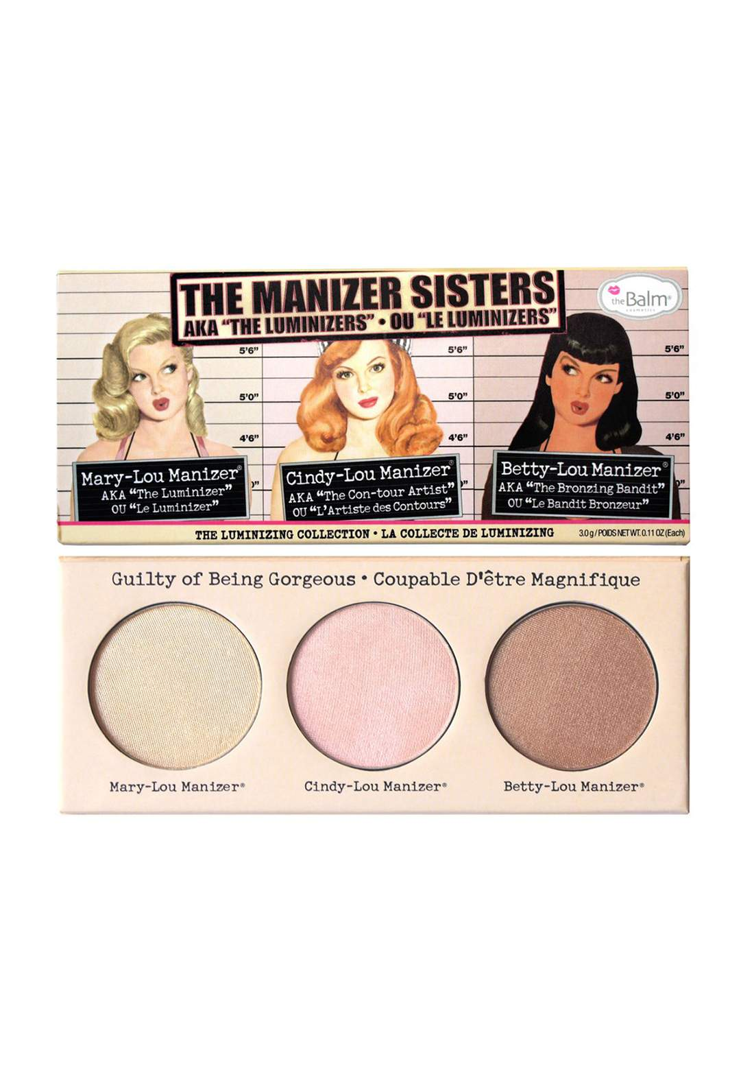 (299-0049)The Balm The Manizer Sisters Highlighter Palette باليت اضاءة
