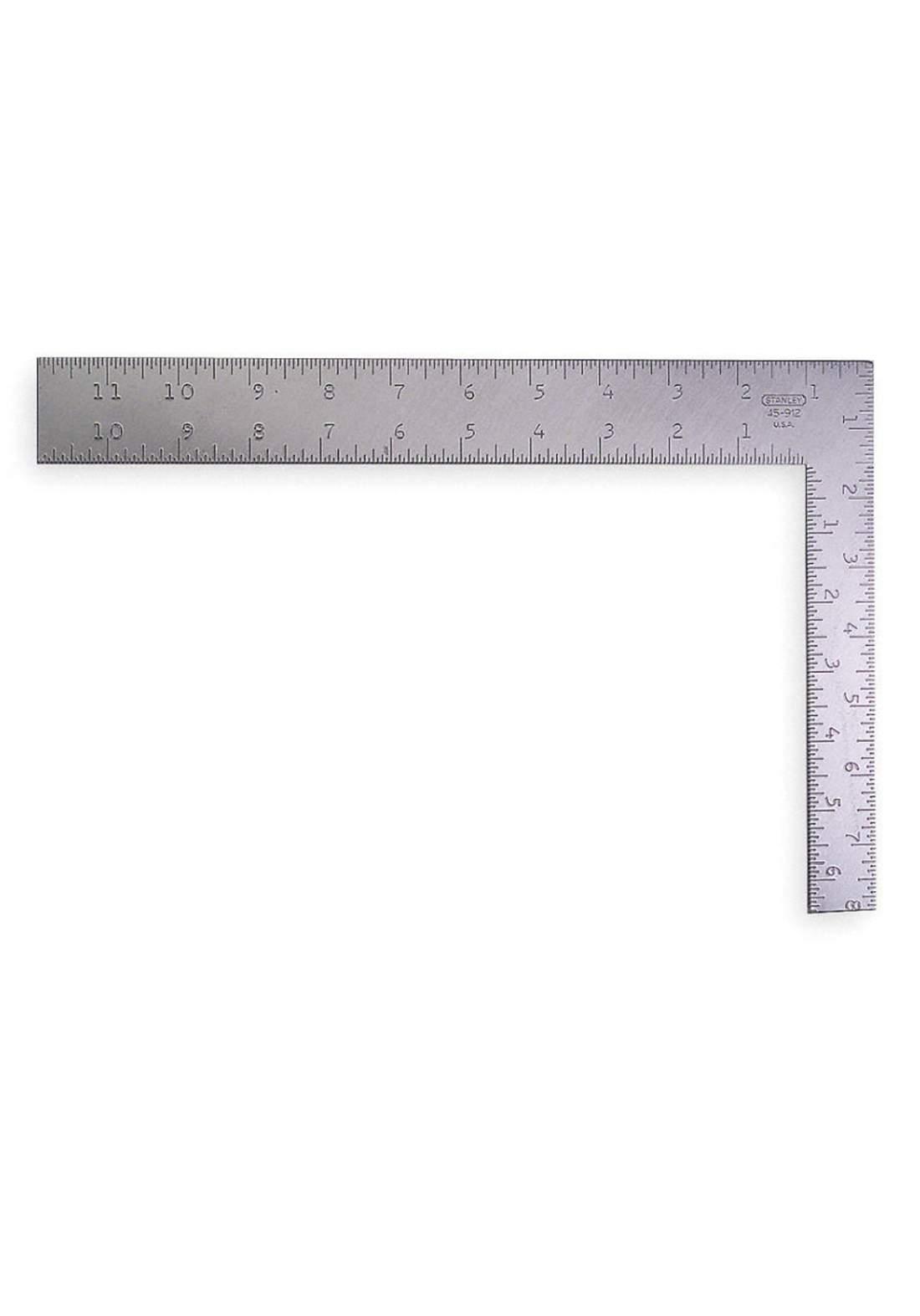 Stanley 45-912 Steel Square Aluminum Handle 12x8 Metric Imperial كونيه