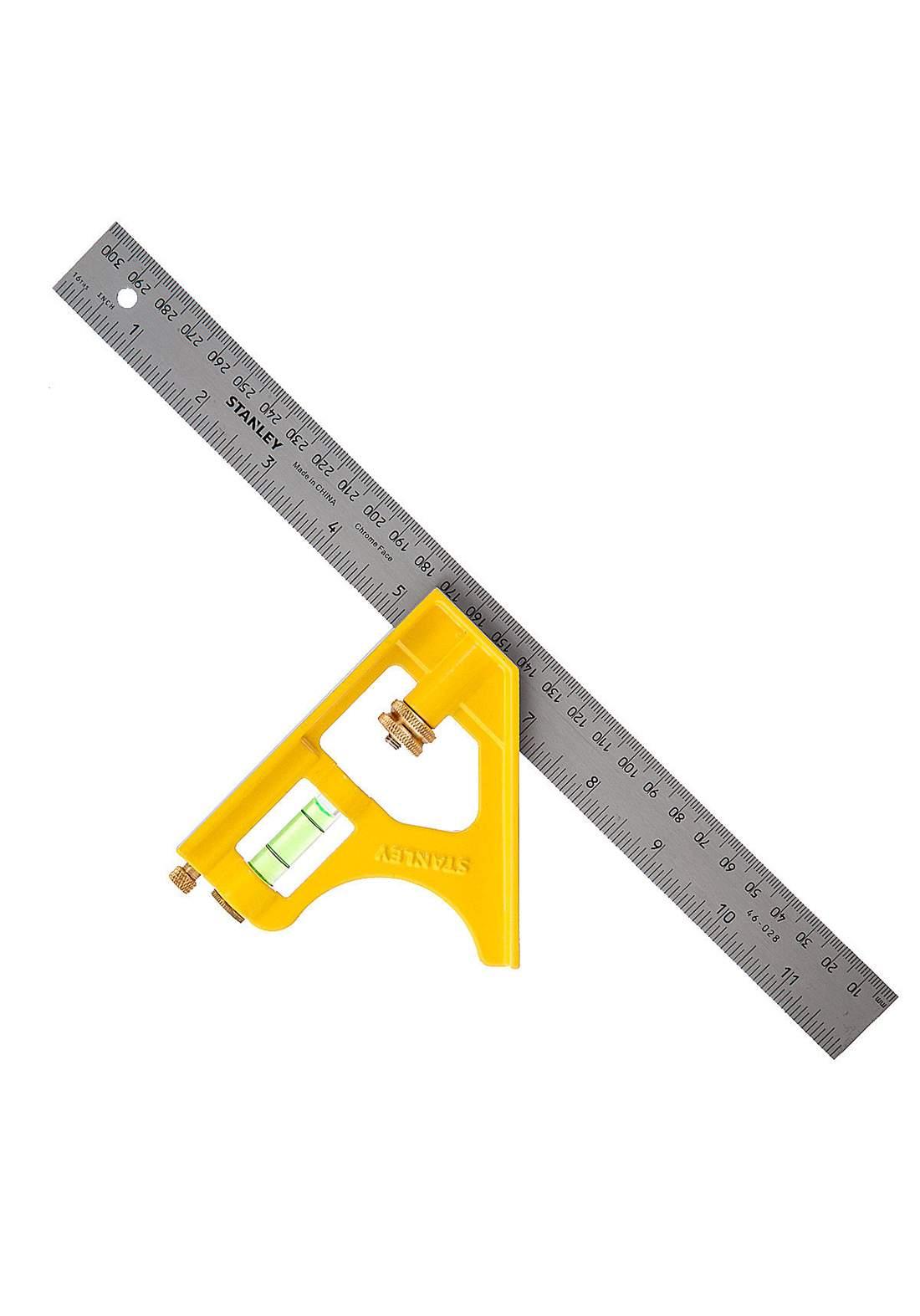Stanley 2-46-028 Steel Square Aluminum Handle 300mm كونيه
