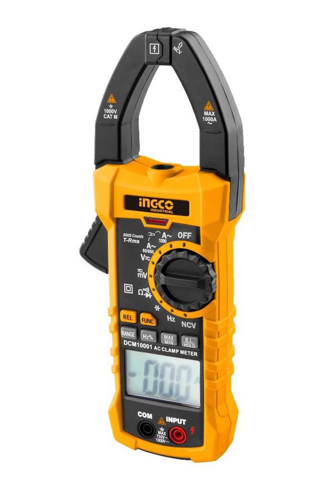 Ingco - dcm10001   Digital clamp meter 1000 ampere AC     ديجيتال كلامب ميتر 1000 امبير AC