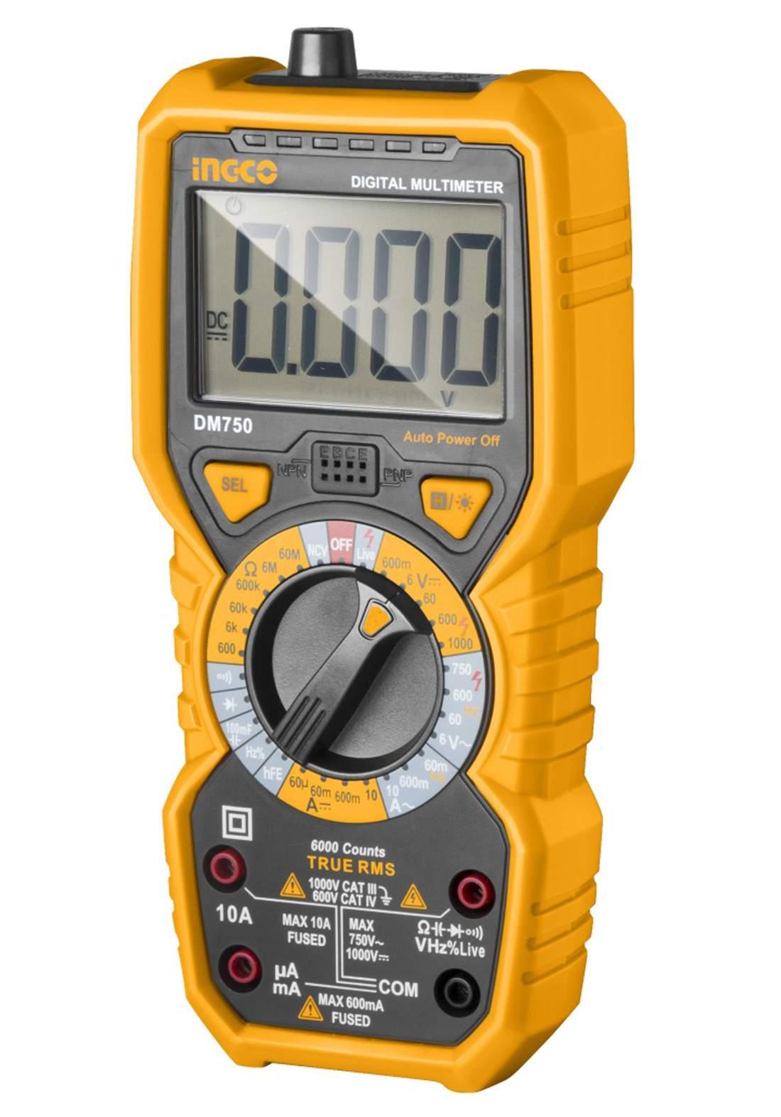 Ingco - dm750  750-volt multimeter device  جهاز  ملتميتر 750 فولط