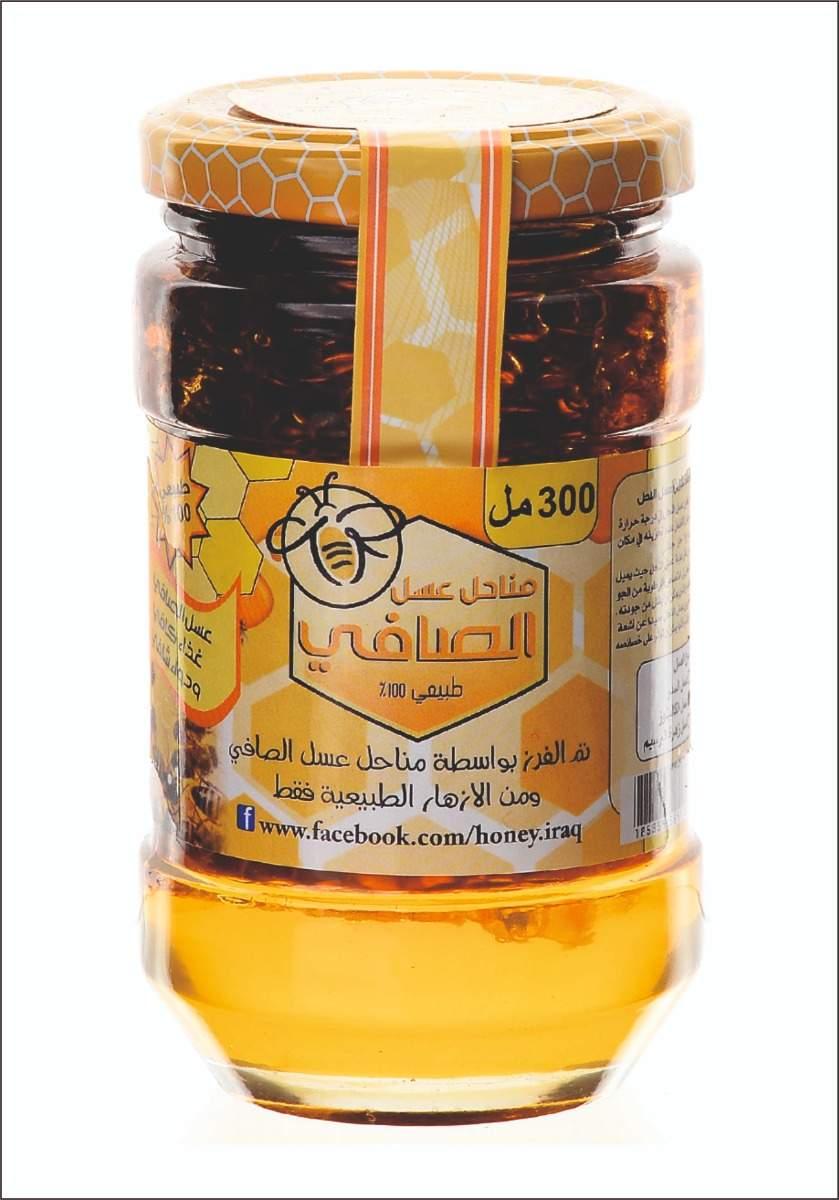 Clover honey With Honeycomb 300Ml عسل زهرة البرسيم بالشمع