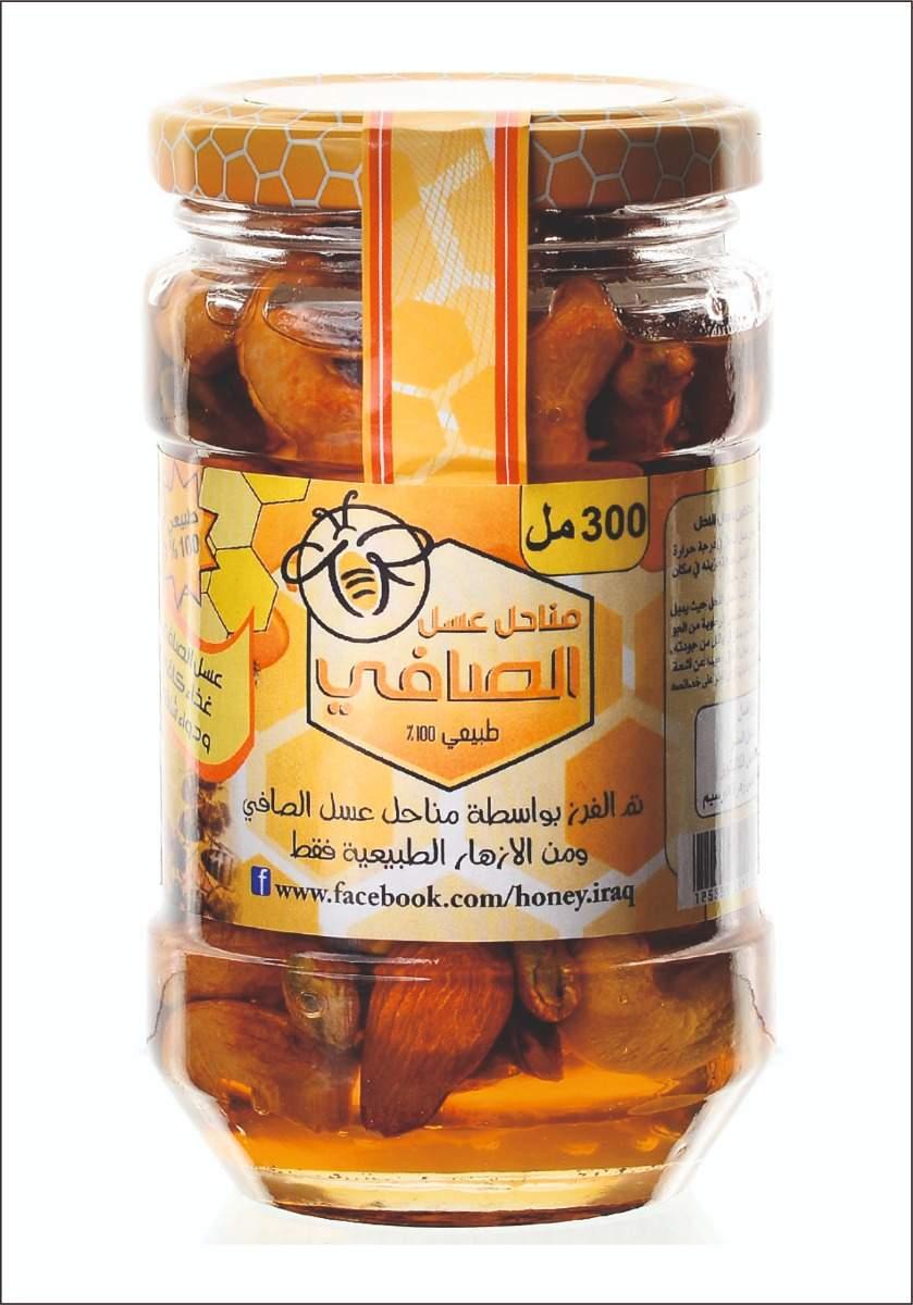 عسل ازهار اشجار الكالبتوز بالمكسراتEucalyptus Honey With Nuts 300Ml