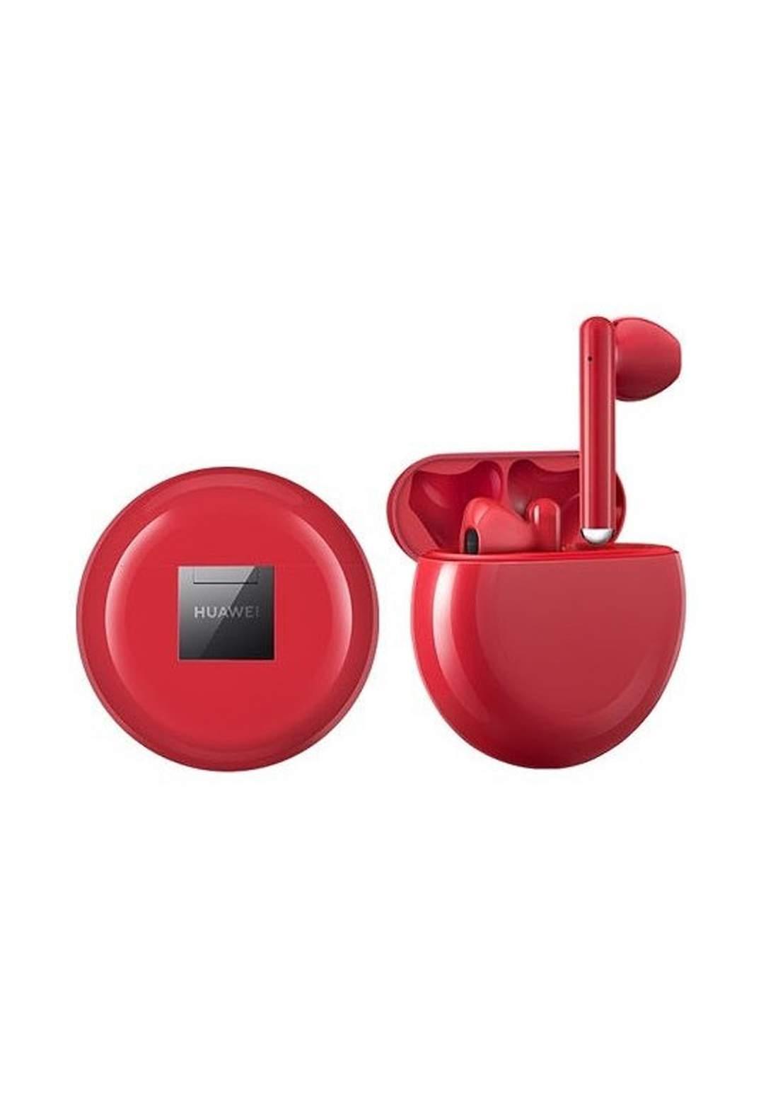 Huawei Freebuds 3 Bluetooth Earbuds Red سماعات بلوتوث