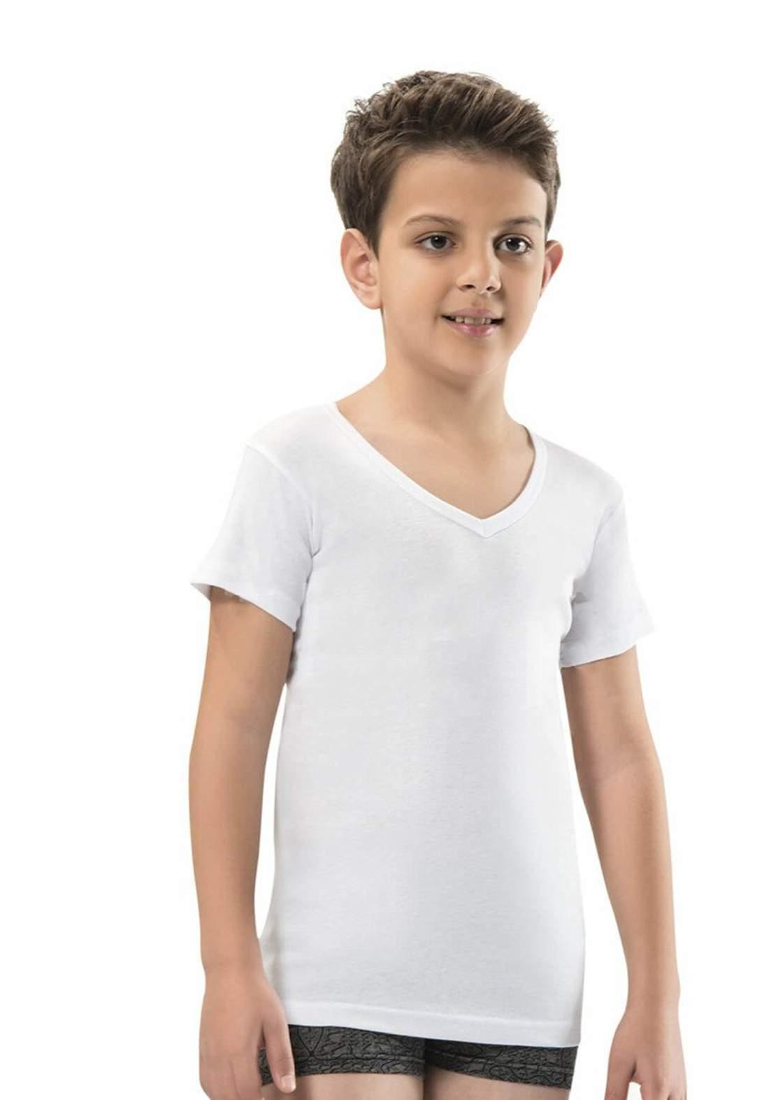 فانيلة نص كم بيضاء اللون 706 من جيبر