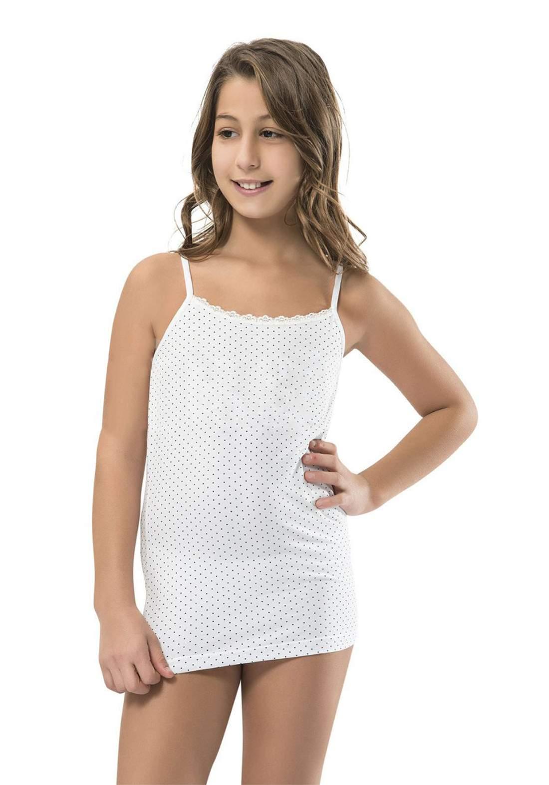 فانيلة بناتي بيضاء اللون 812 من جيبر