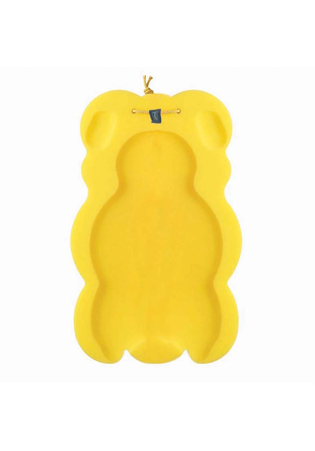 Optimal Soft bath sponge (0-6m) yallow وسادة الاستحمام للاطفال