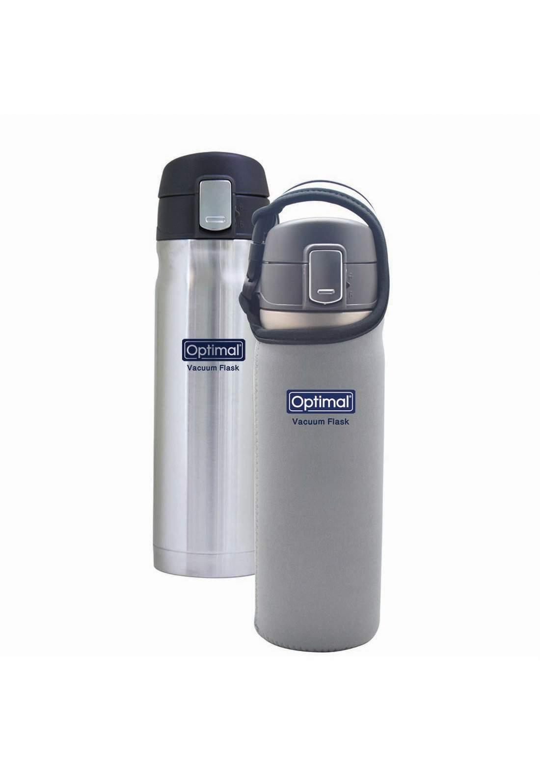 Optimal  Stainless Steel Vacum Flask 480ml  gray ترمس حافظ للحرارة