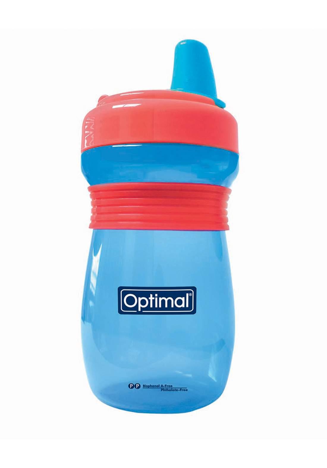 Optimal  Silicone Spout Bottle With Handle blue(12-above) قدح مع فوهة سيليكون ومقابض للاطفال