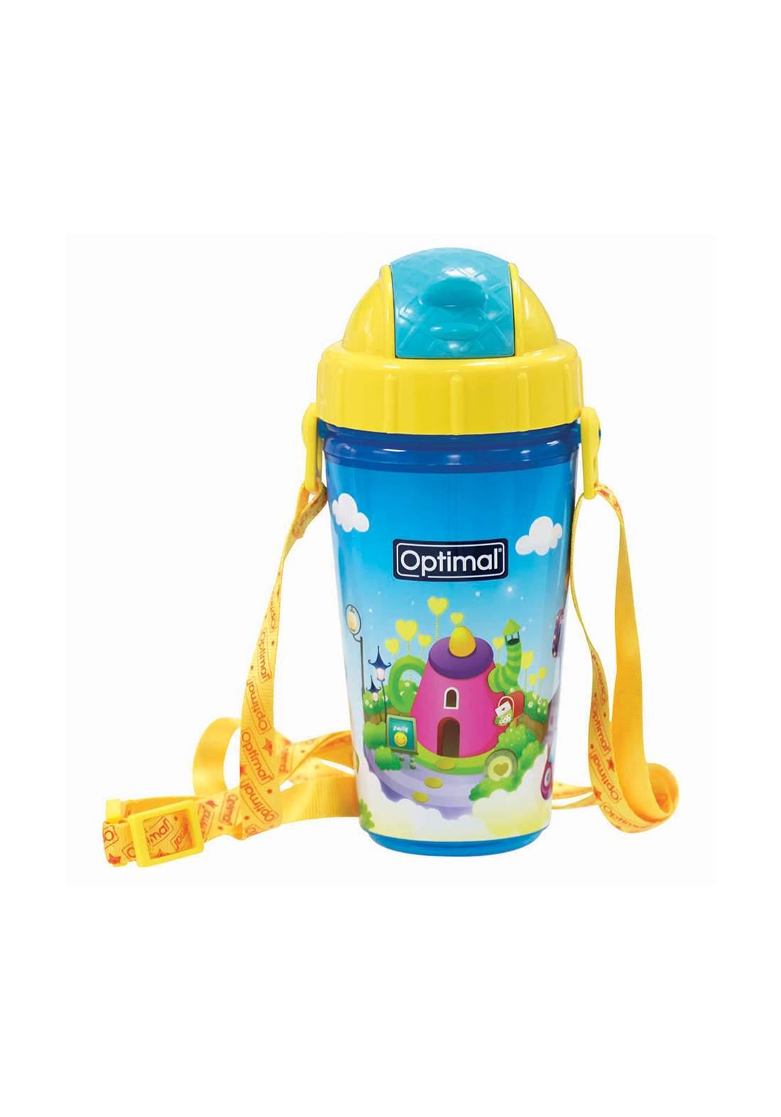 Optimal Silicone Spout Bottle250ML (+12) Blue قدح شرب الماء مع غطاء للاطفال