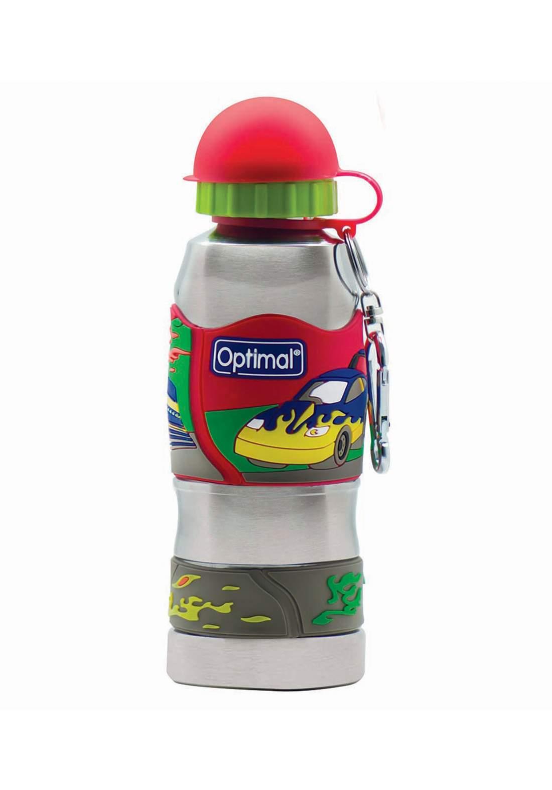 Optimal stainless steel water bottle 450ml (+12)  multicolour مطارة شرب الماء مع غطاء للاطفال