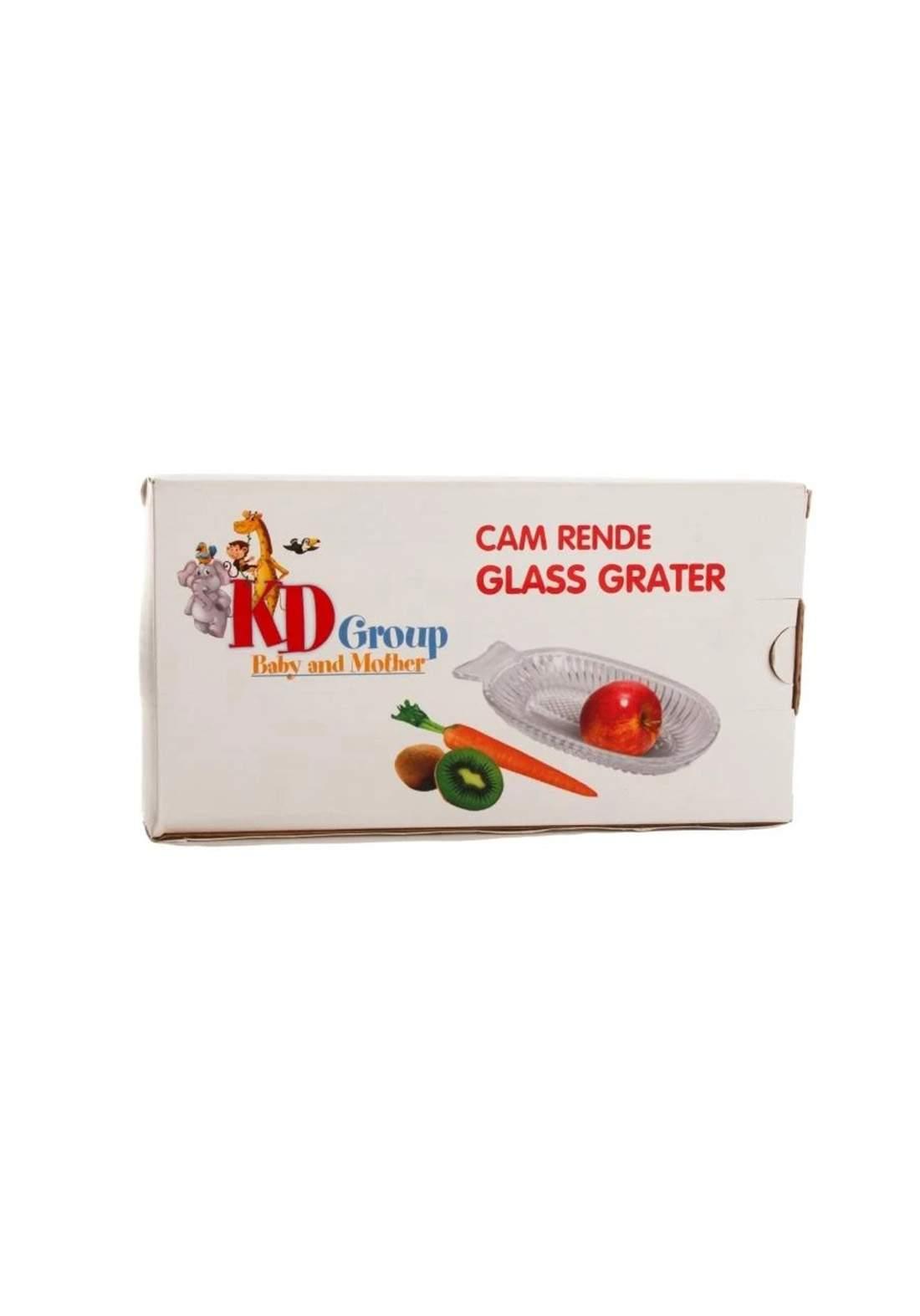 KD Group Glass Grater  مبشرة زجاجية للاطفال