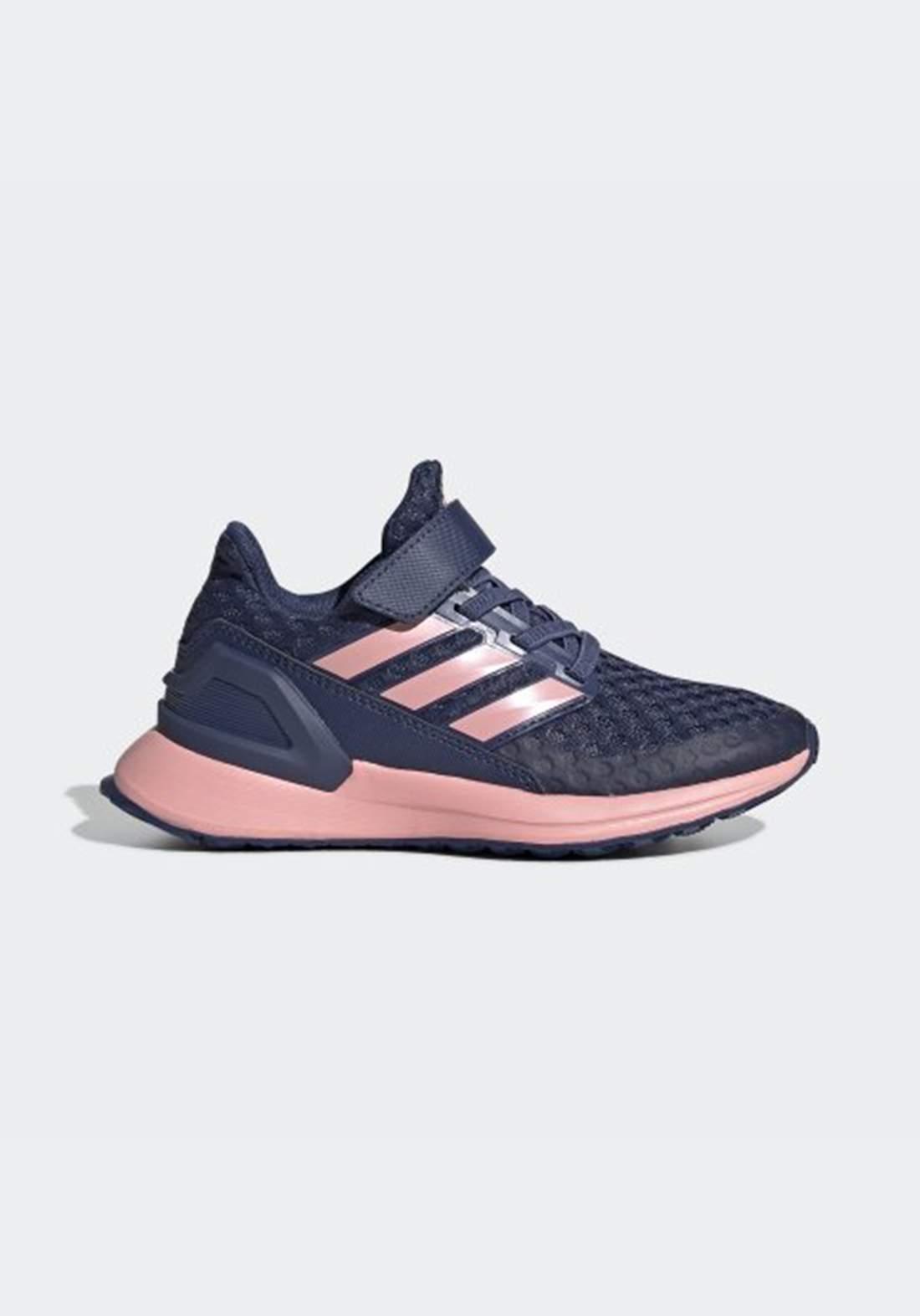 حذاء رياضي للاطفال ازرق و وردي اللون من أديداس