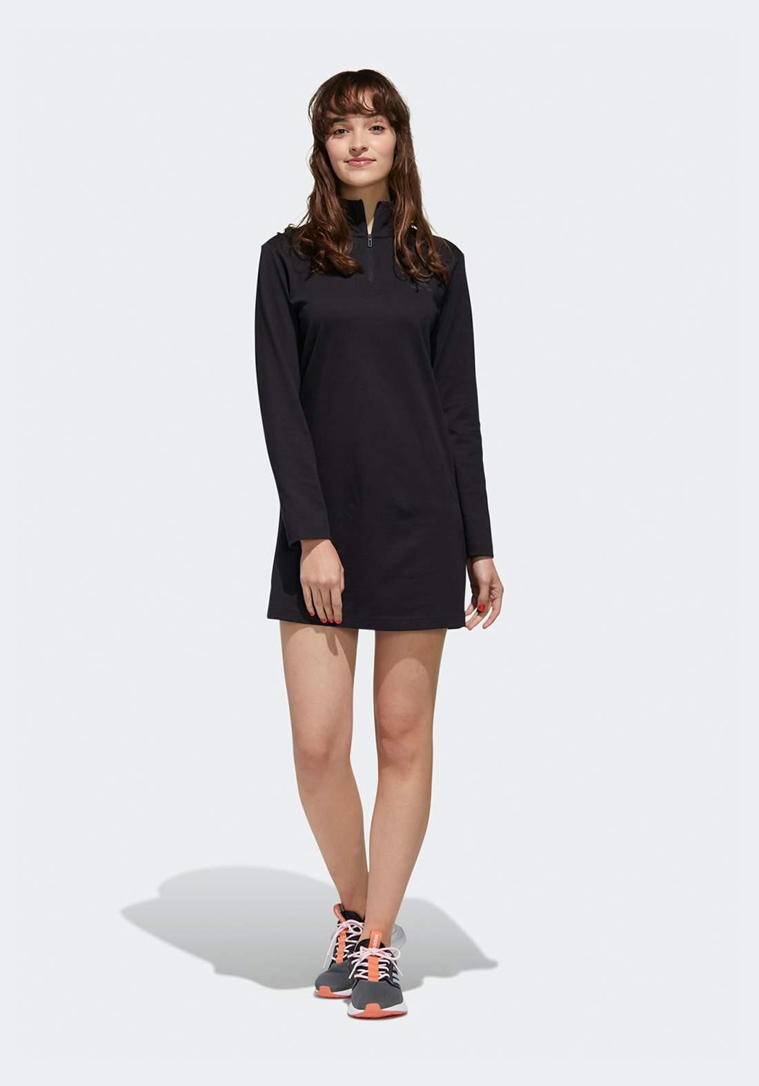 فستان رياضي اسود اللون من أديداس