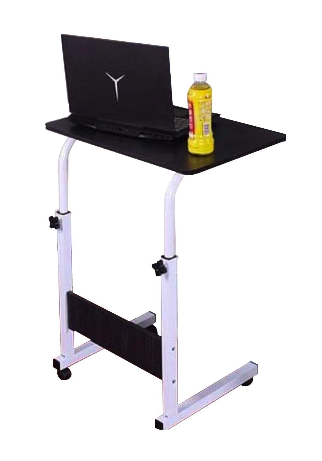 laptop Table with Wheels Multipurpose - Black طاولة لابتوب