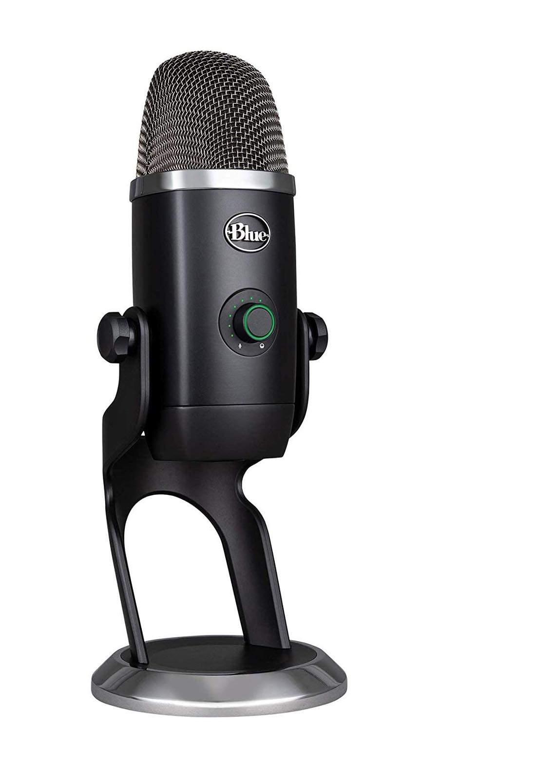 Blue Yeti X Professional Condenser USB Microphone  - Black مايكرفون