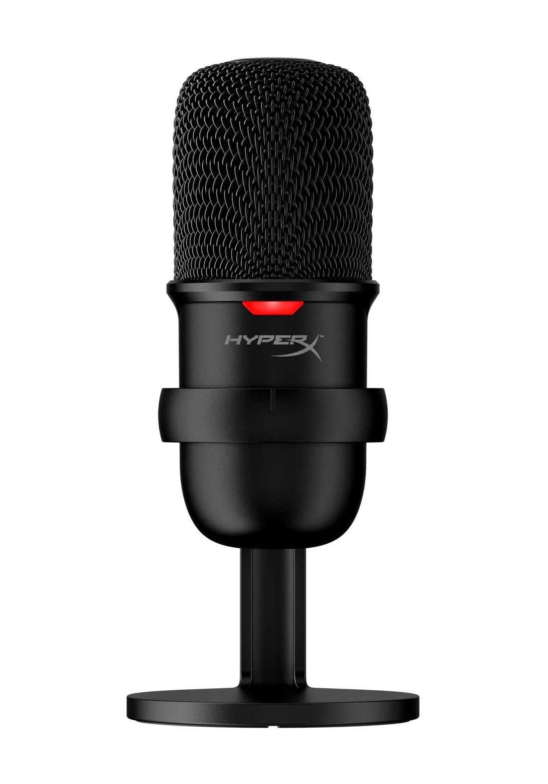 HyperX SoloCast  USB Condenser Gaming Microphone   - Black مايكرفون