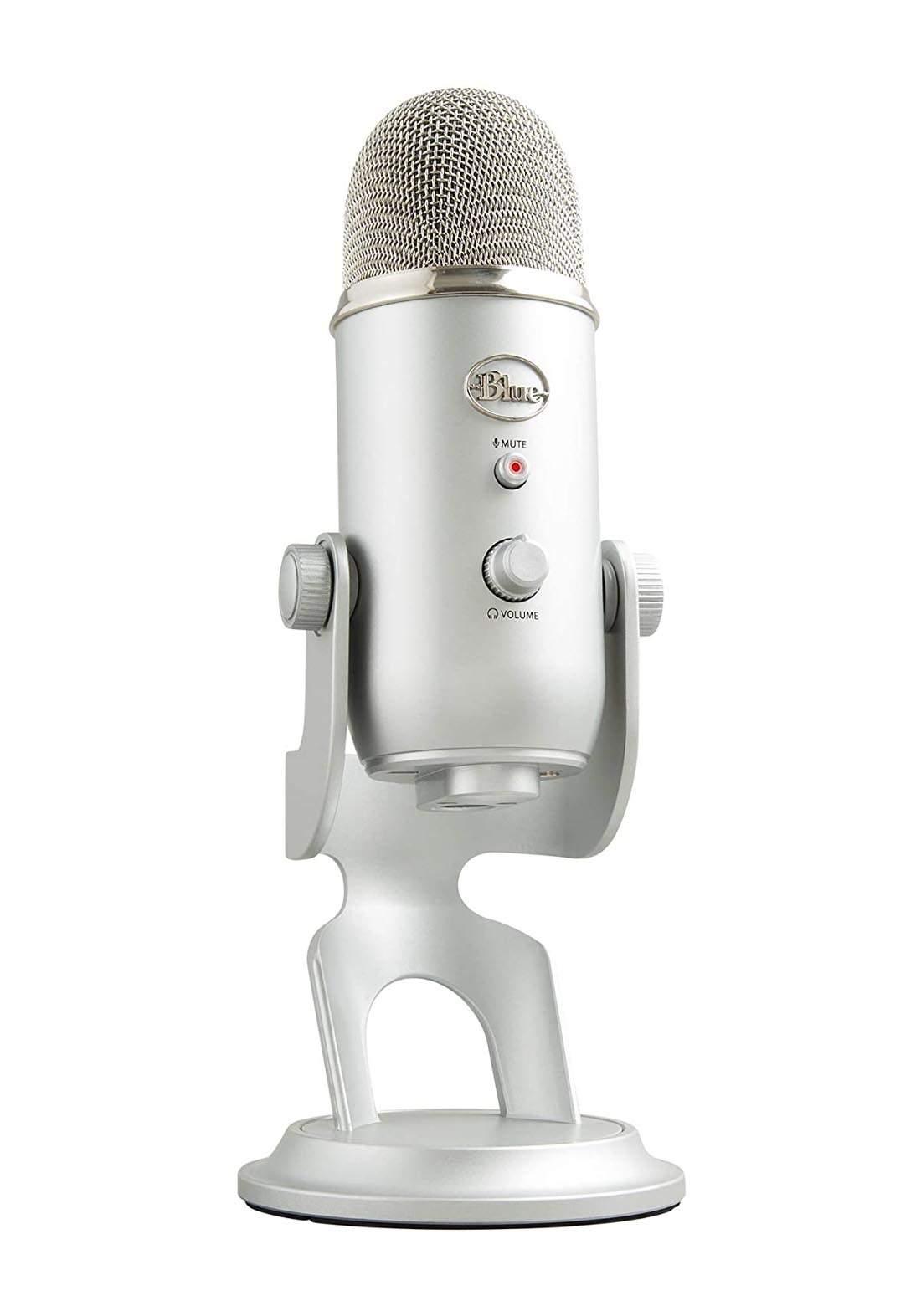 Blue Yeti  Professional Condenser USB Microphone  - Silver مايكرفون