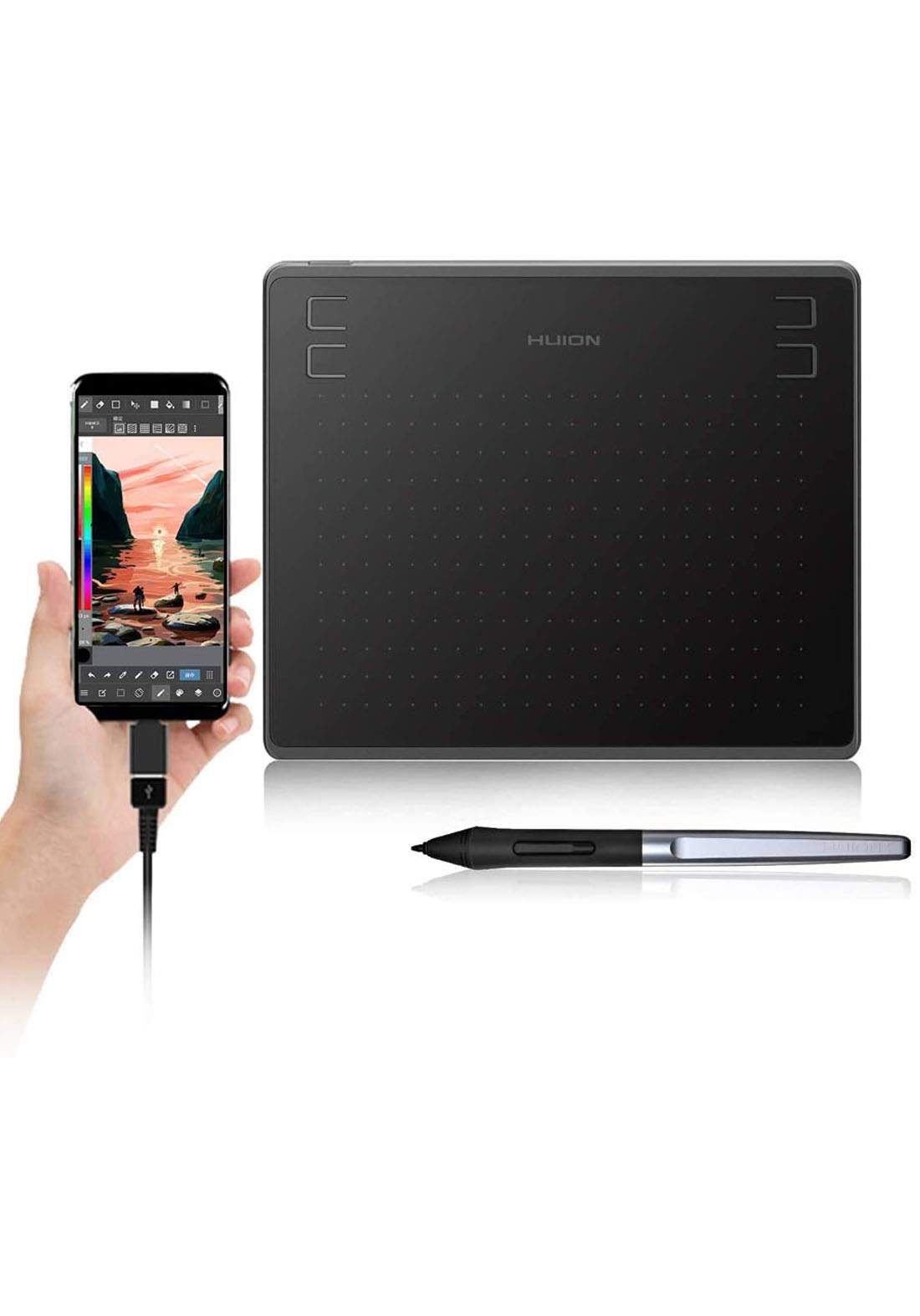Huion HS64 Digital Graphics Tablets OSU Drawing Tablet with 8192 Battery-Free  تابلت رسم وكتابة