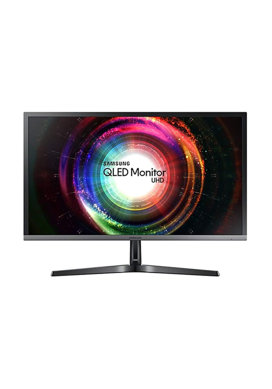 Samsung LED LU28H750UQM Curved Gaming Monitor UHD 28 - Black