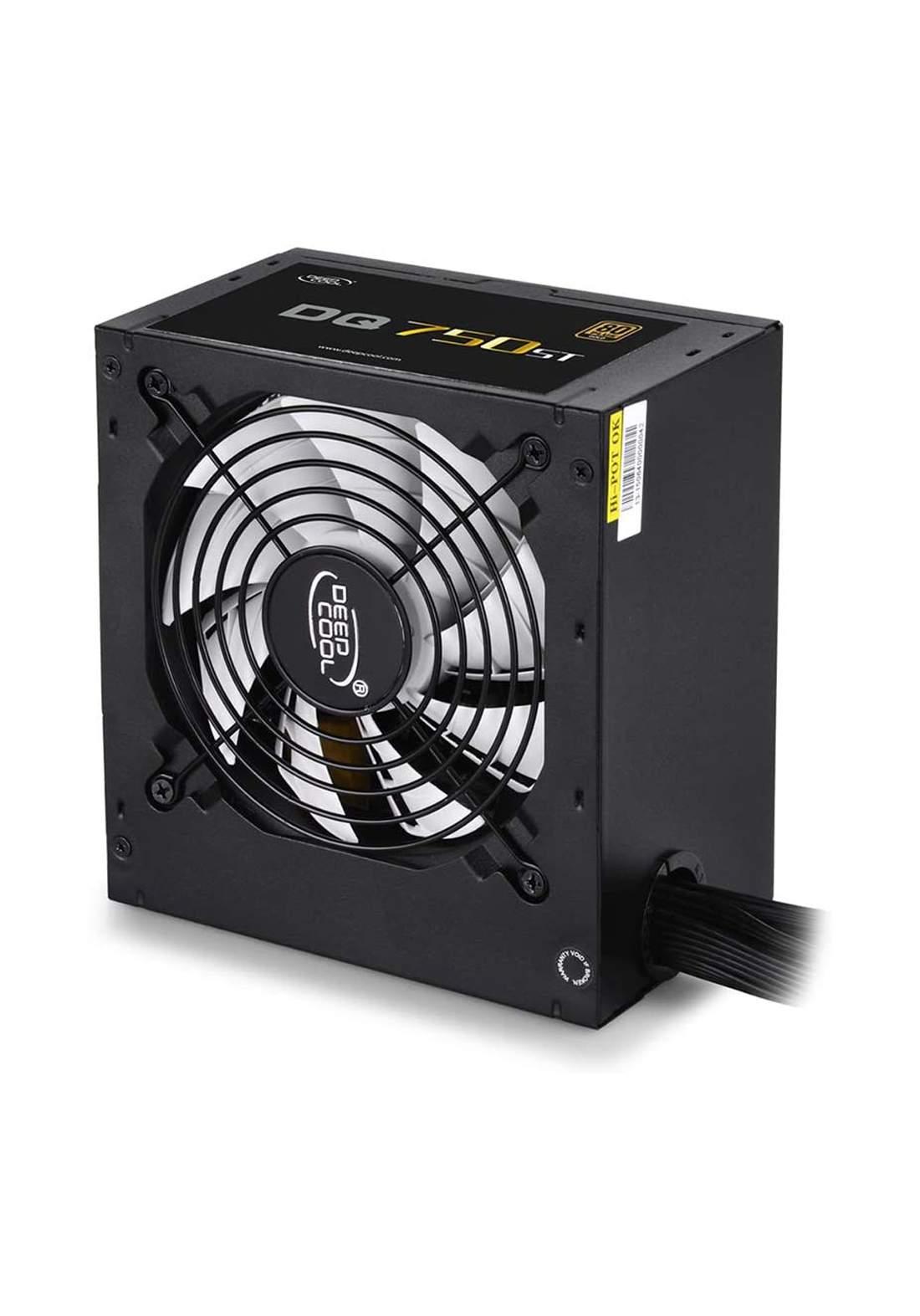 Deepcool DQ750ST 80 Plus Gold  Power Supply - Black  مجهز قدرة