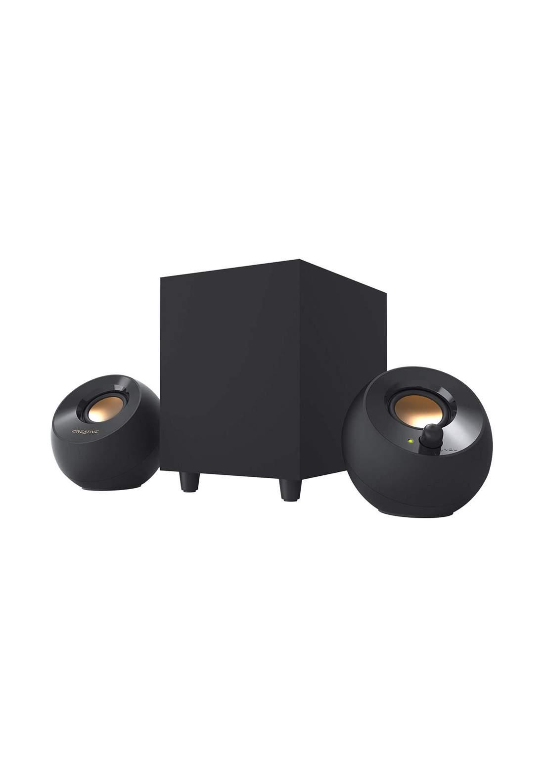 Creative Pebble Plus 2.1 USB Powered Desktop Speakers with Powerful Subwoofer - Black مكبر صوت