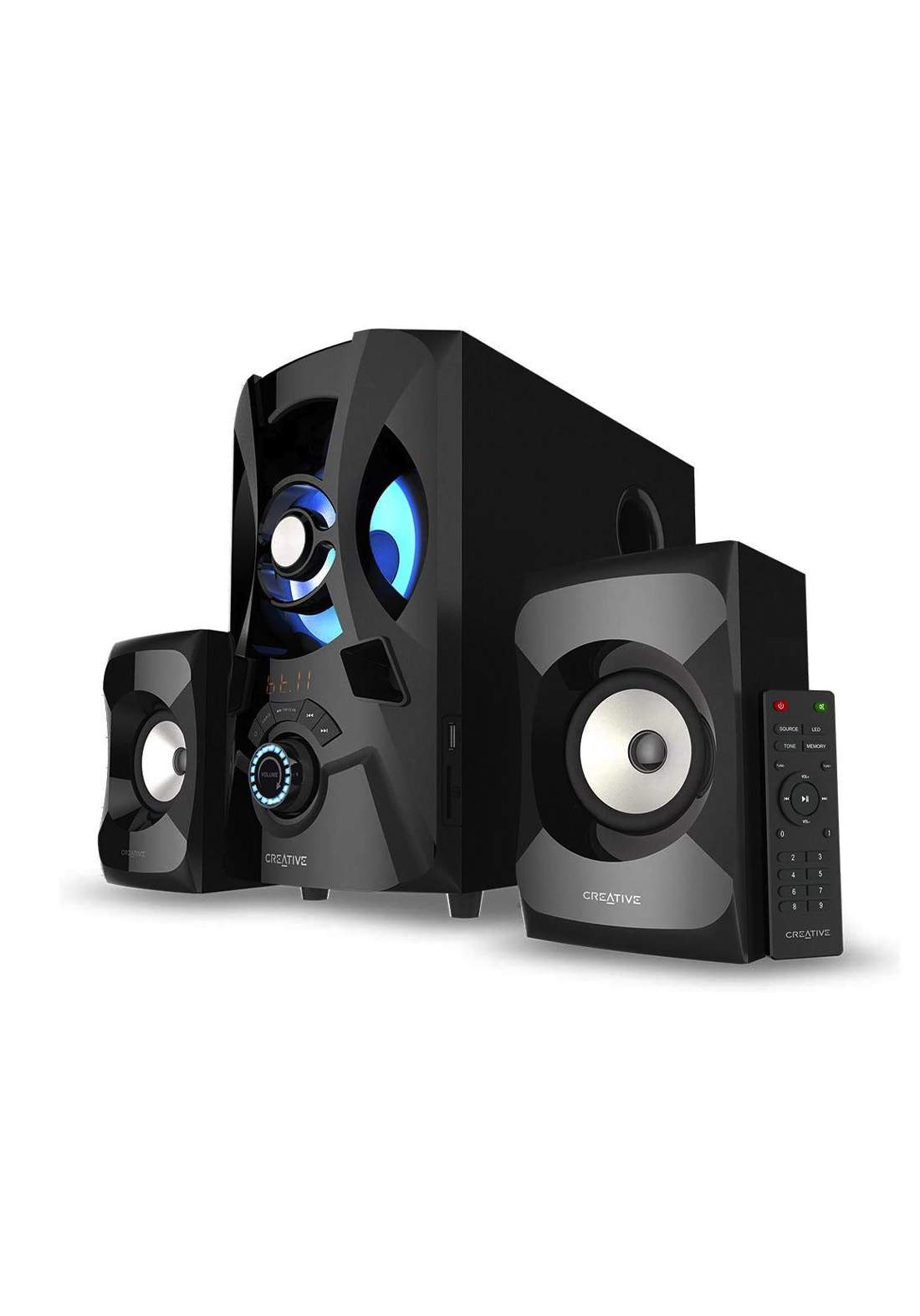 Creative SBS E2900 2.1 Powerful Bluetooth Speaker System with Subwoofer - Black مكبر صوت