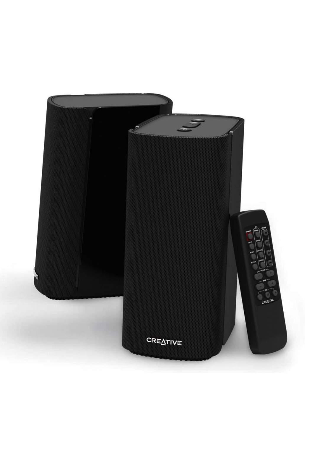 Creative T100 2.0 Compact Hi-Fi Desktop Speakers - Black مكبر صوت