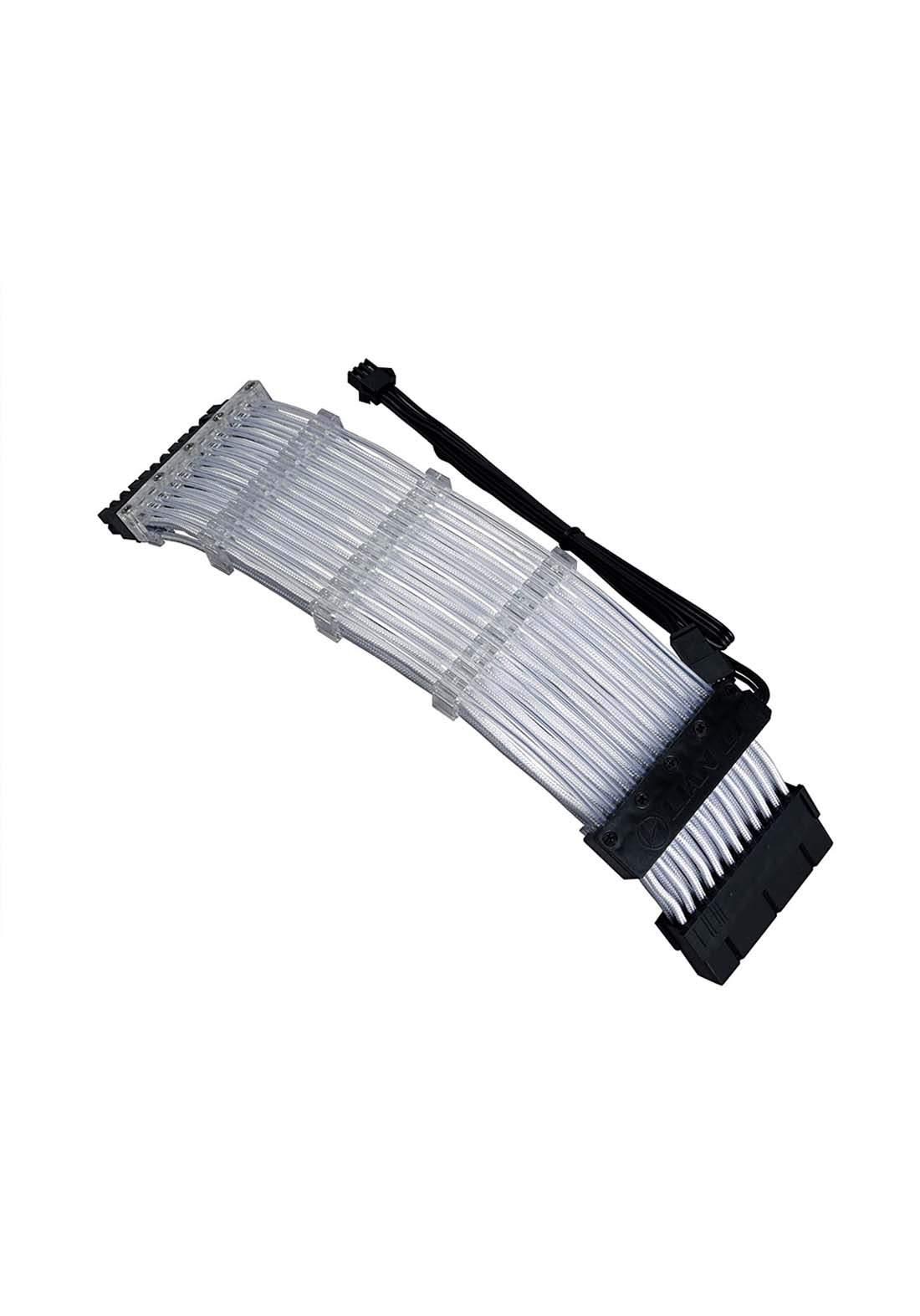 Lian Li Strimer 24 pin RGB PCIe VGA-Stromkabel  - Black كابل تمديد ليد ملون للحاسبة