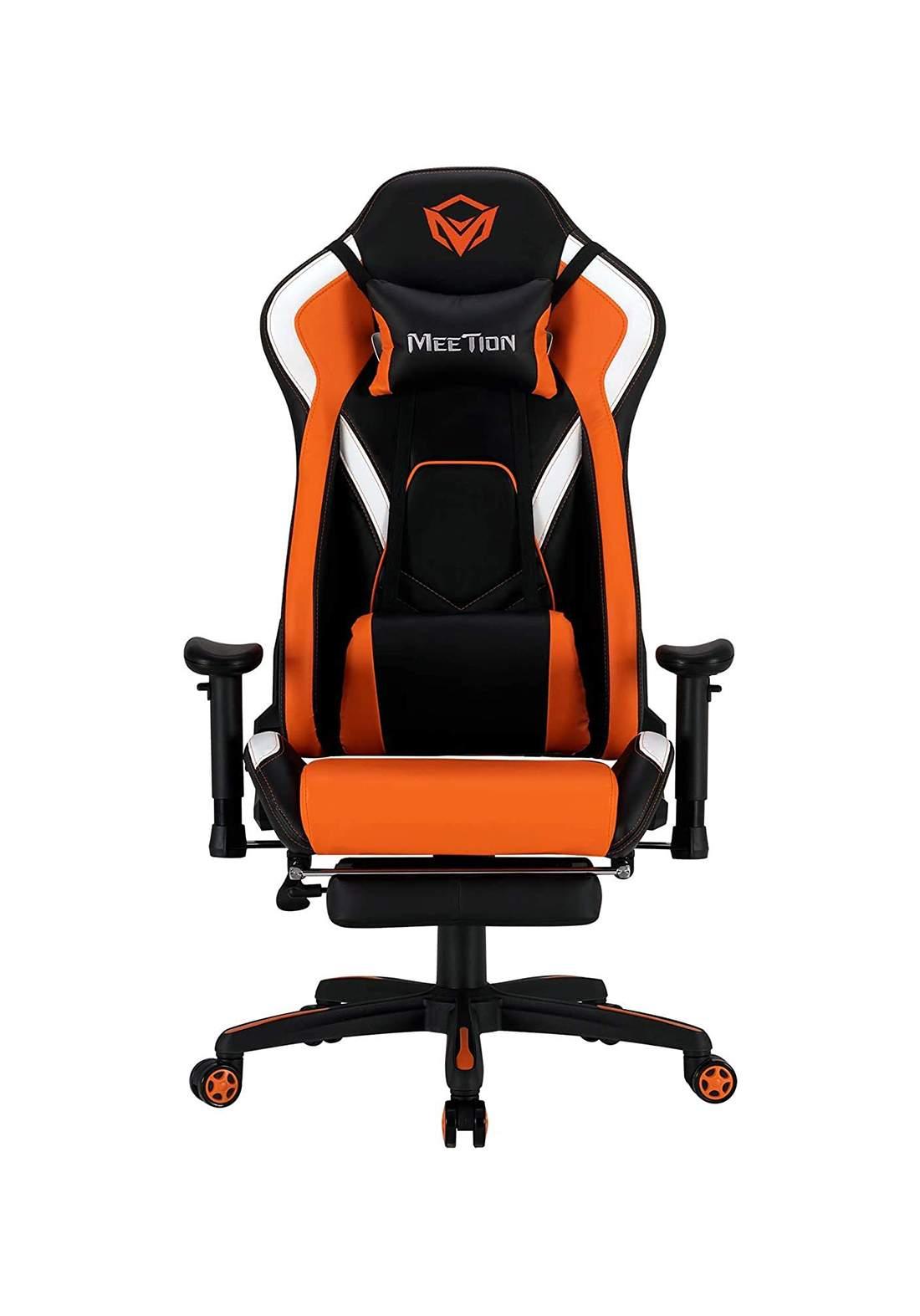MeeTion MT-CHR22 Gaming Chair with Footrest - Black / Orange كرسي ألعاب ميشن