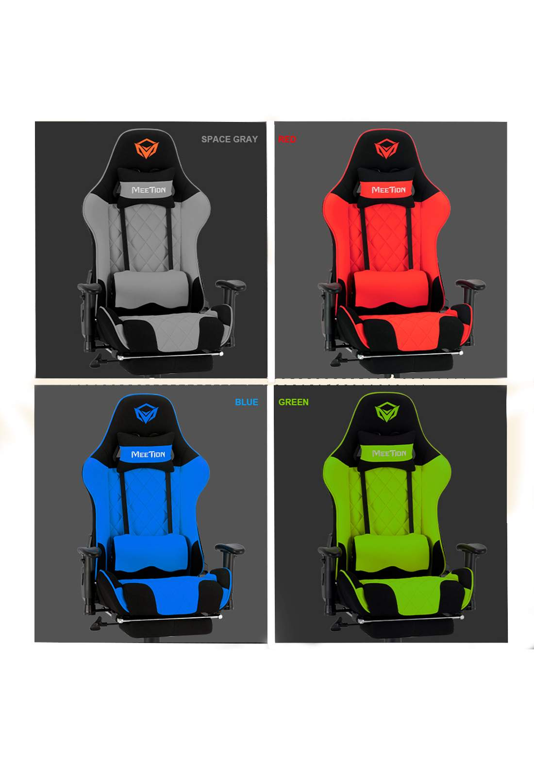 MeeTion MT-CHR25 Gaming Chair with Footrest and Back Massage كرسي ألعاب مع مساج ظهر