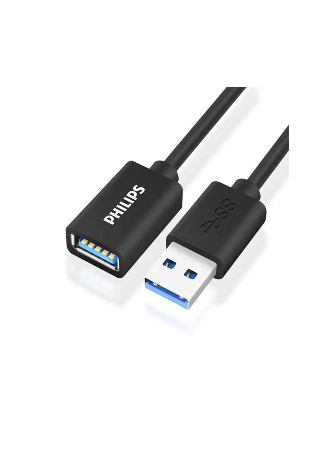 Philips SWR156T/93 Usb 3.0 Extension Cable  Male To Female Computer - Black كابل