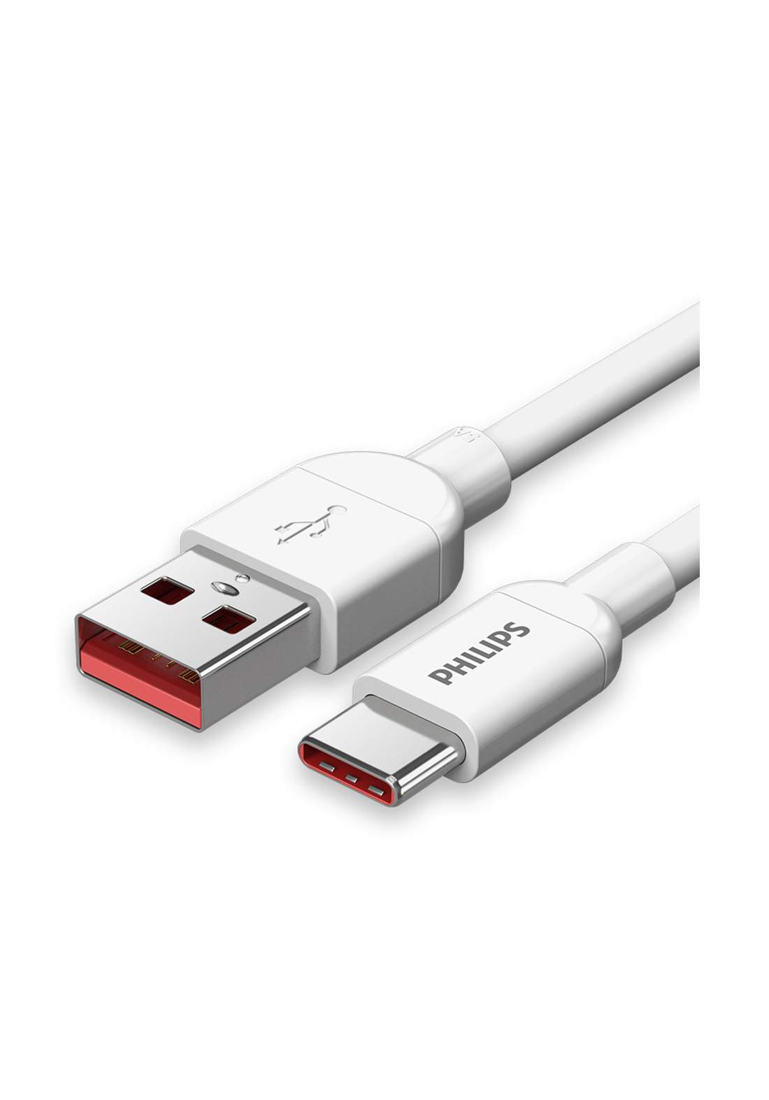 Philips SWR1612A/93 Type-C Data Cable 5A Super Fast charging Cable For phones - White كابل