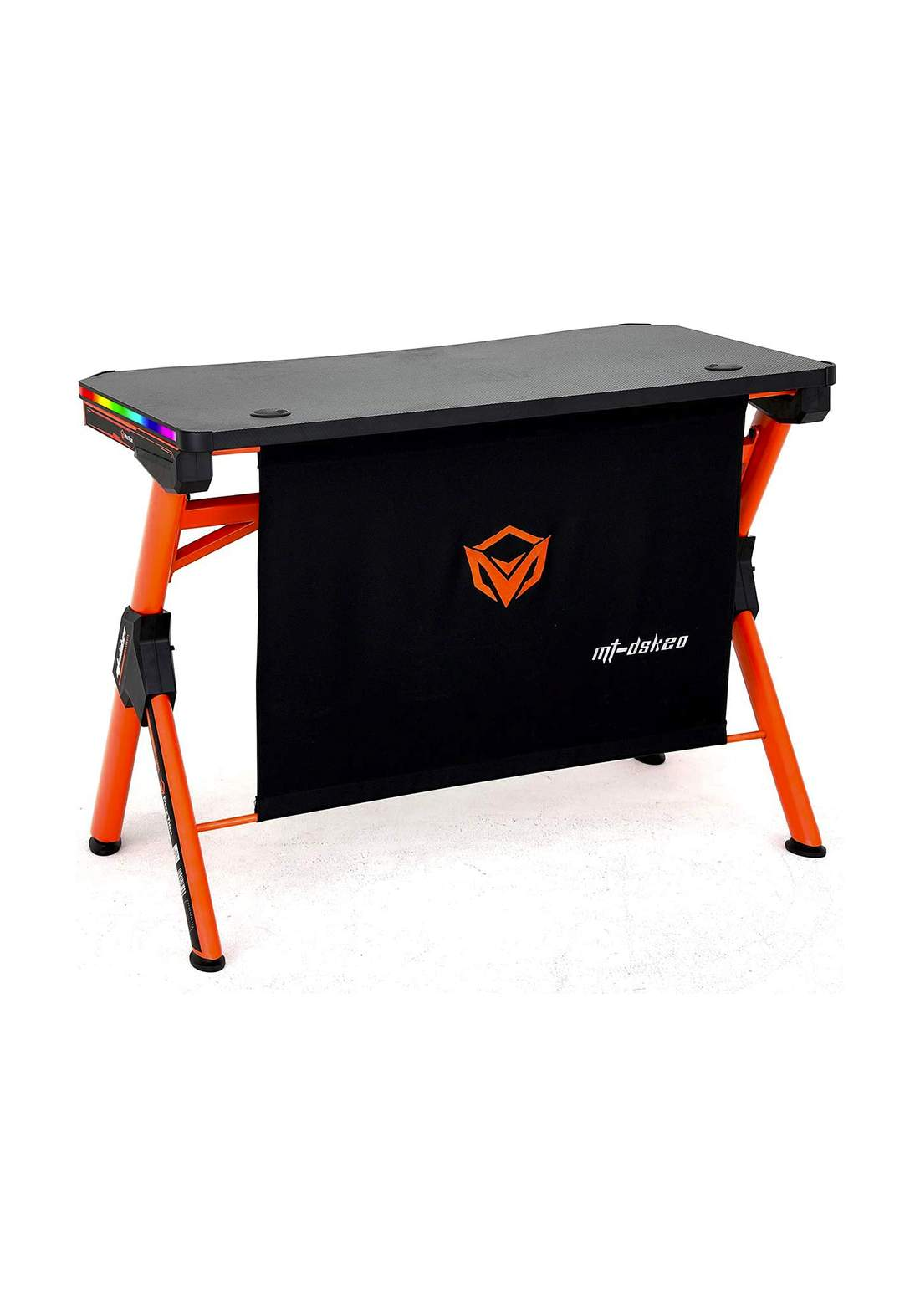 Meetion DSK20 RGB Led Light PC Computer Gaming E-Sport Desk - Black and Orange  طاولة حاسبة