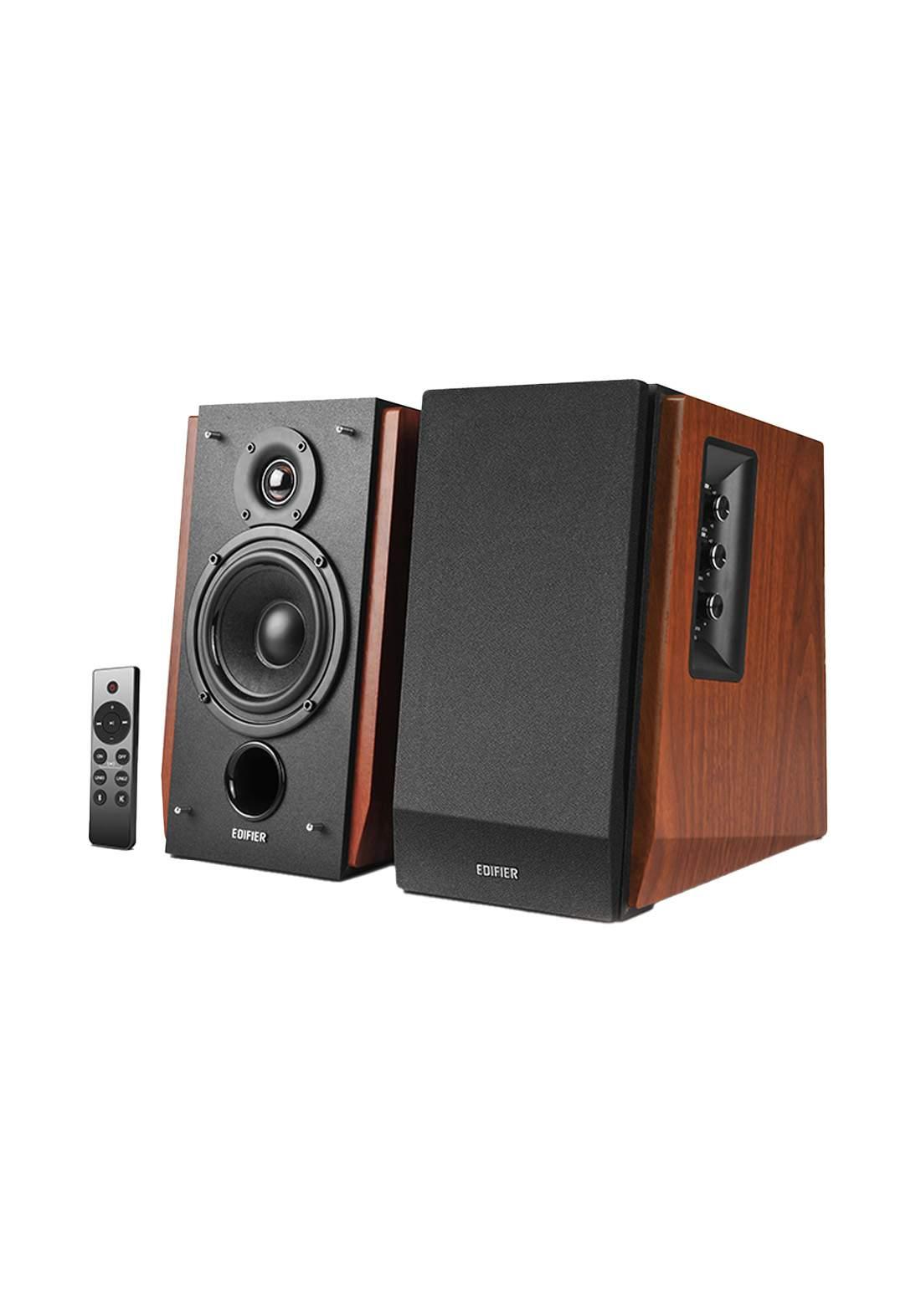 Edifier R1700BTs Active Bluetooth Bookshelf - Brown مضخم صوت