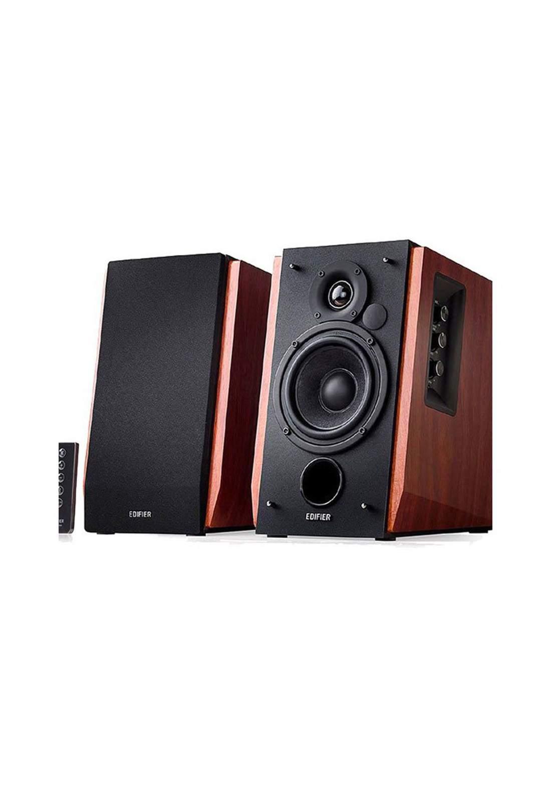 Edifier R1700BTs Active Bluetooth Bookshelf Speakers - Brown  مضخم صوت