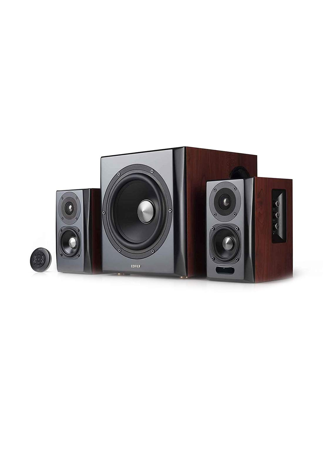 Edifier S350DB Bookseller Speaker and Subwoofer - Brown مضخم صوت