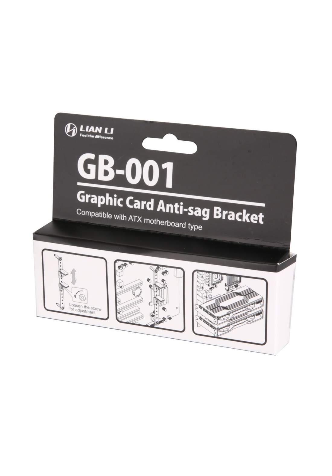 Lian-Li GB-001 Anti Sag Bracket for VGA Cards - Black حامل مضاد لتمدد البطاقات
