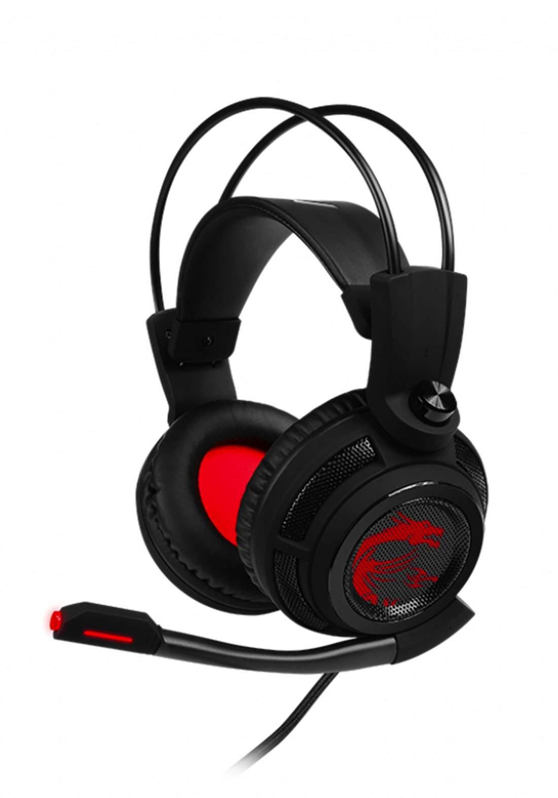 MSI DS502 Wired Gaming Headset - Black سماعة سلكية