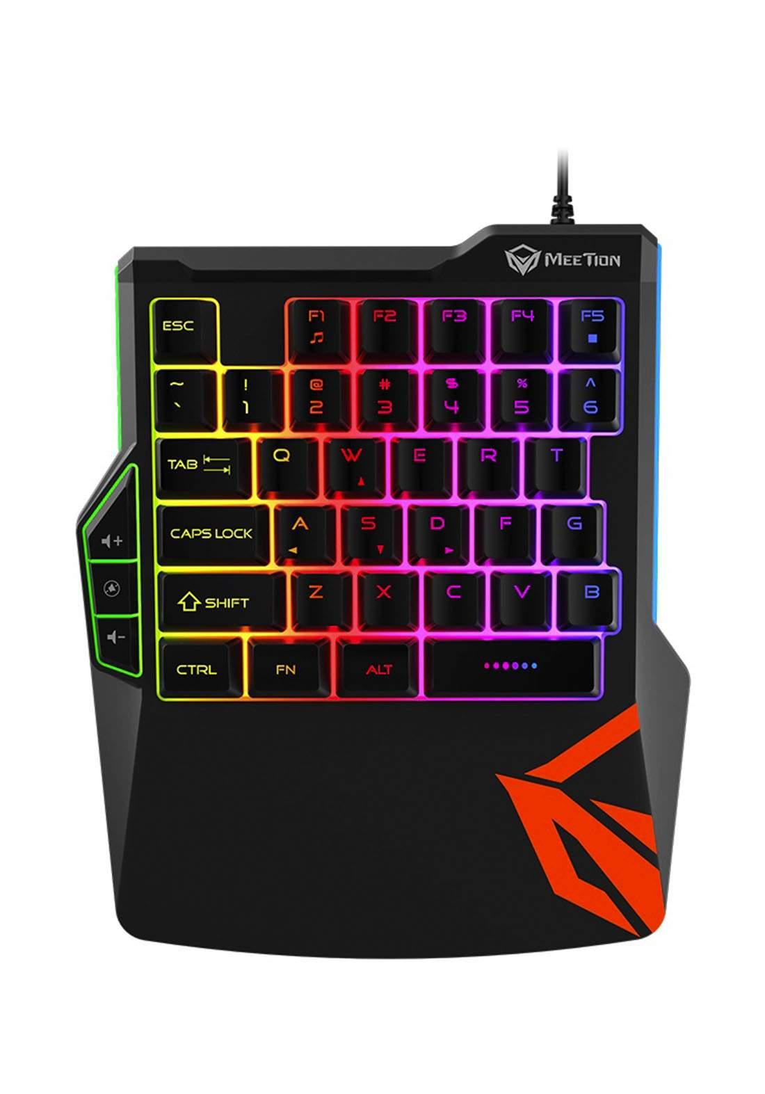 Meetion KB015 Wired Gaming Keyboard - Black كيبورد