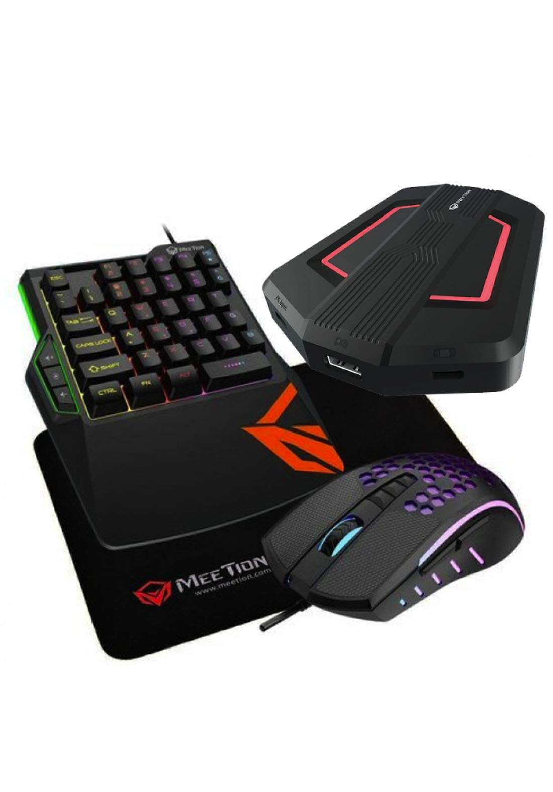Meetion CO015 Gaming Kit Console Keyboard Mouse Converter - Black